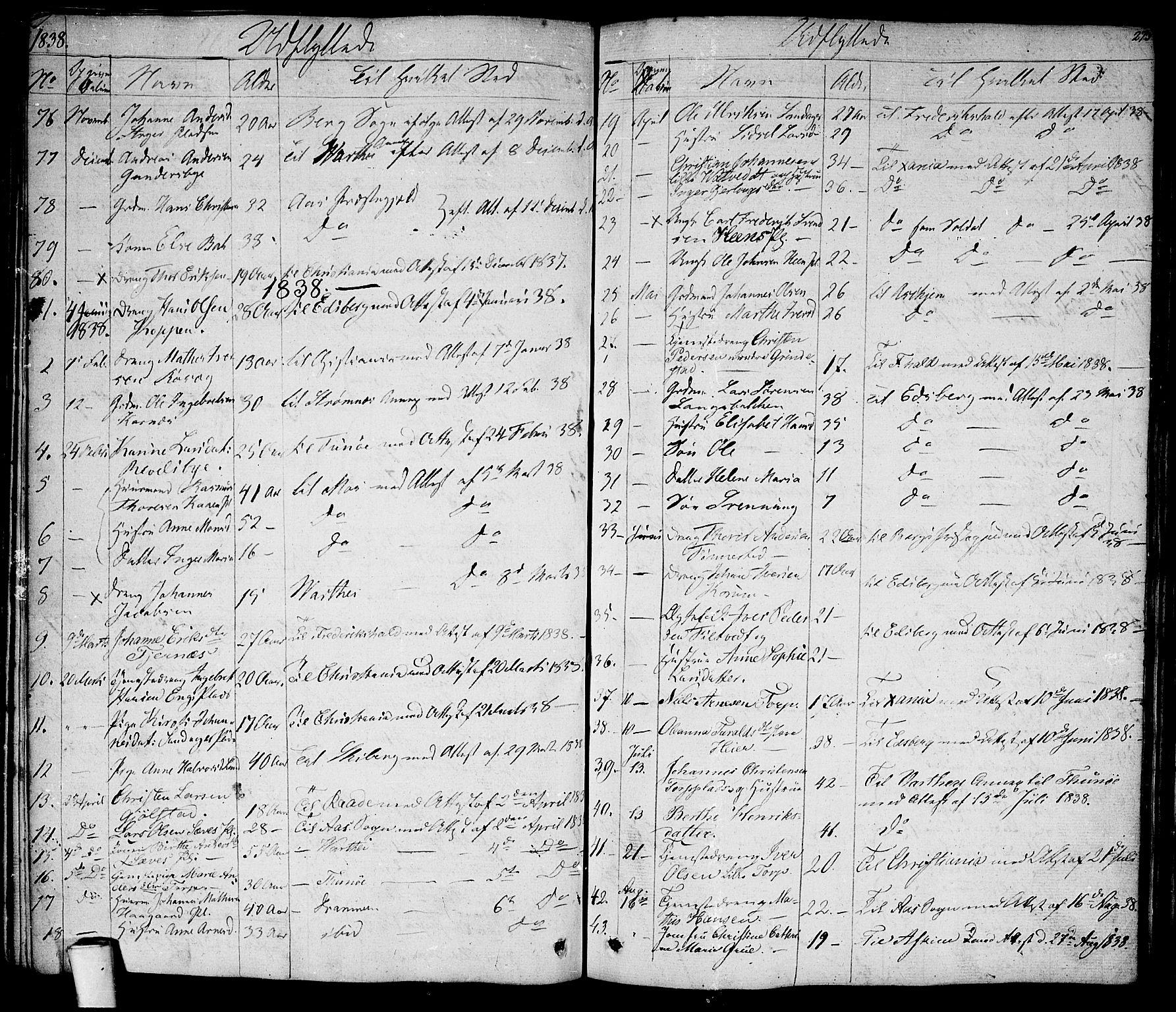 SAO, Rakkestad prestekontor Kirkebøker, F/Fa/L0007: Ministerialbok nr. I 7, 1825-1841, s. 273