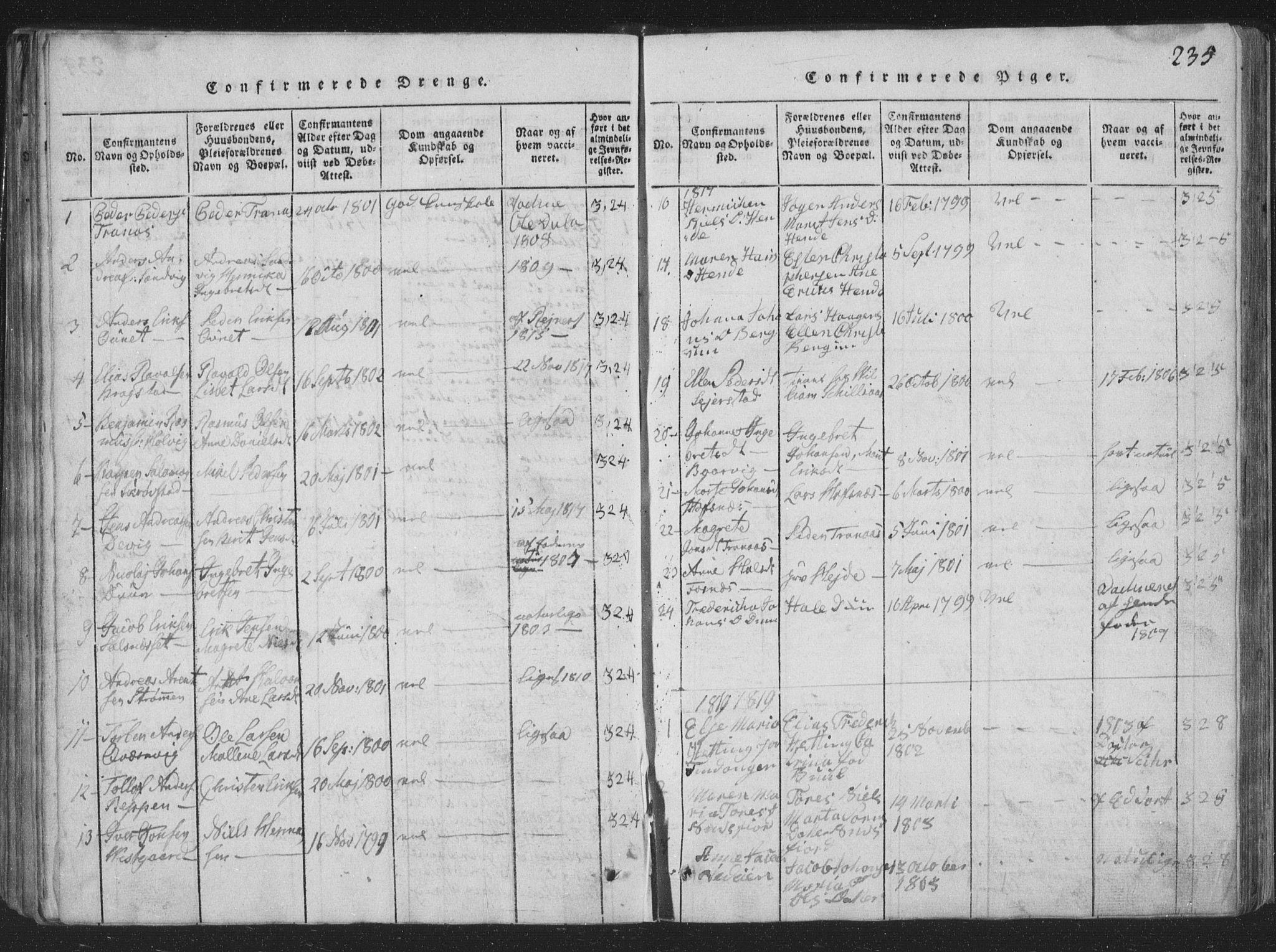 SAT, Ministerialprotokoller, klokkerbøker og fødselsregistre - Nord-Trøndelag, 773/L0613: Ministerialbok nr. 773A04, 1815-1845, s. 235