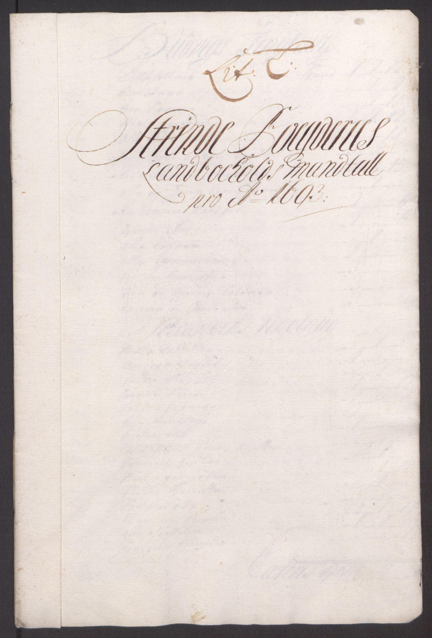 RA, Rentekammeret inntil 1814, Reviderte regnskaper, Fogderegnskap, R61/L4104: Fogderegnskap Strinda og Selbu, 1693-1694, s. 123