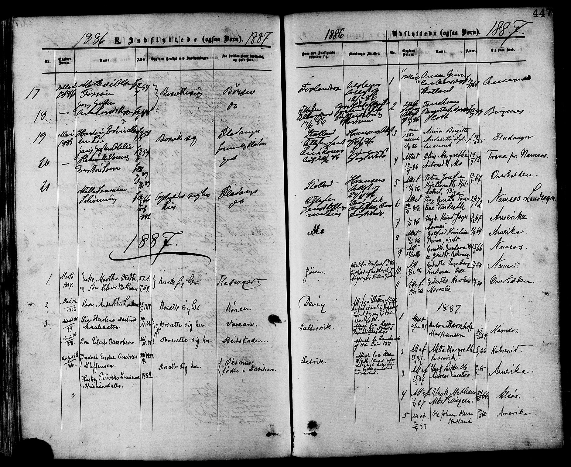 SAT, Ministerialprotokoller, klokkerbøker og fødselsregistre - Nord-Trøndelag, 773/L0616: Ministerialbok nr. 773A07, 1870-1887, s. 447