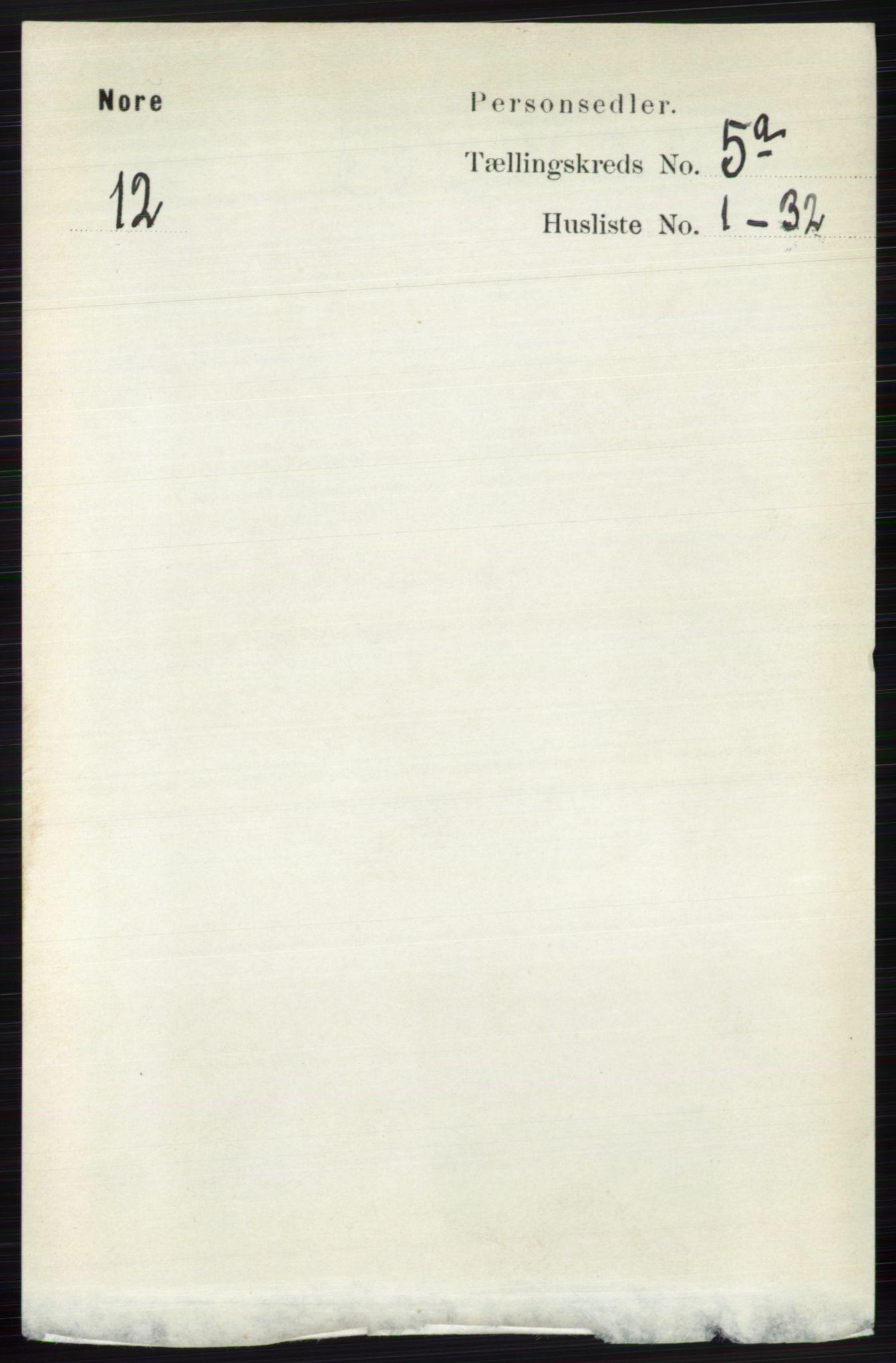 RA, Folketelling 1891 for 0633 Nore herred, 1891, s. 1563
