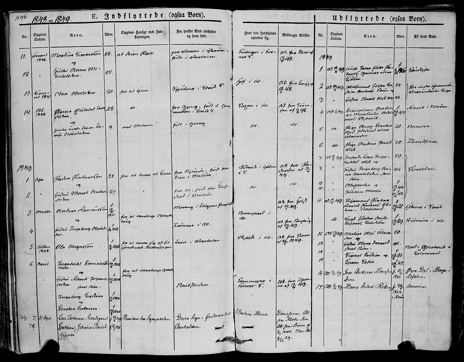 SAT, Ministerialprotokoller, klokkerbøker og fødselsregistre - Nord-Trøndelag, 773/L0614: Ministerialbok nr. 773A05, 1831-1856, s. 496