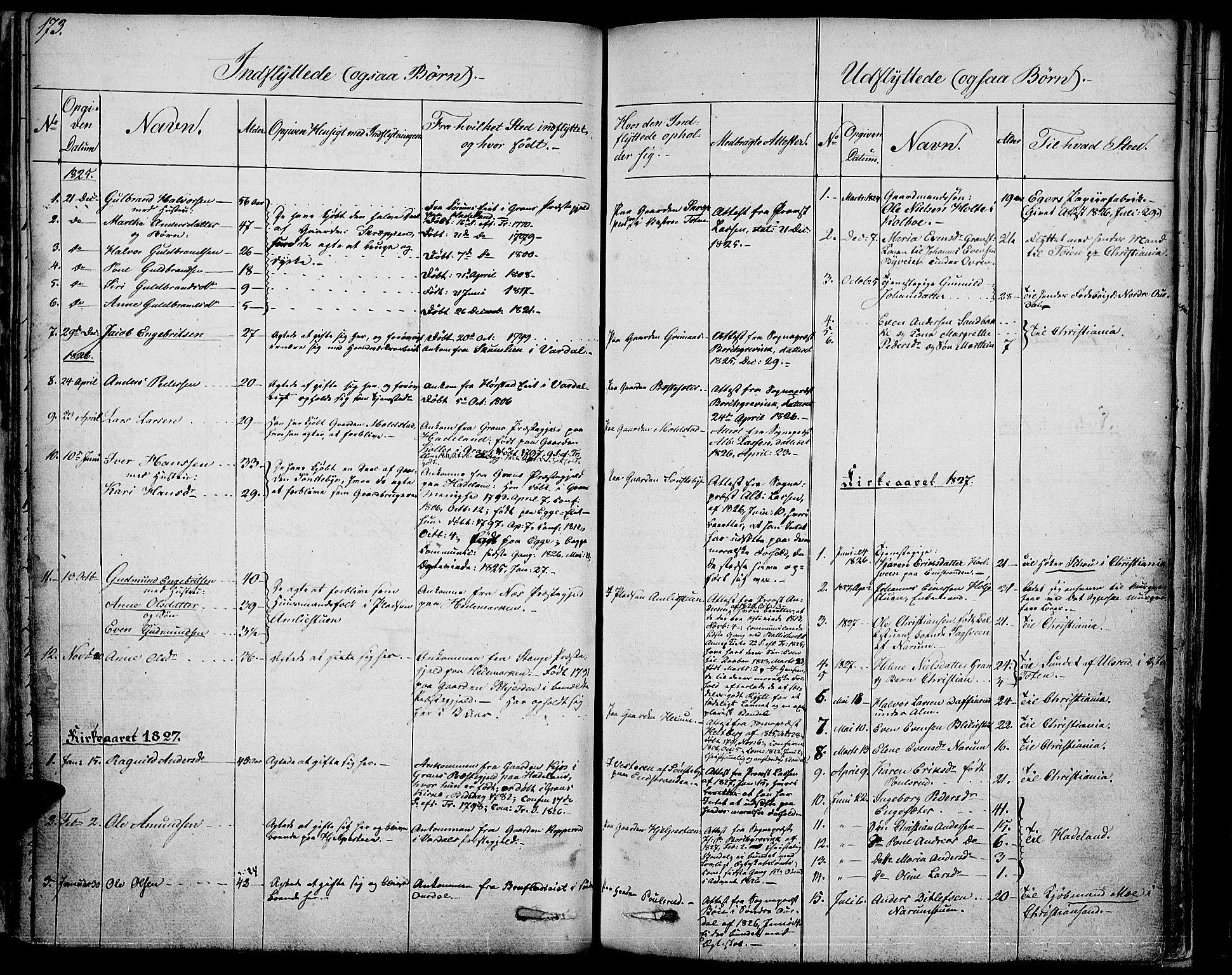 SAH, Vestre Toten prestekontor, Ministerialbok nr. 2, 1825-1837, s. 173