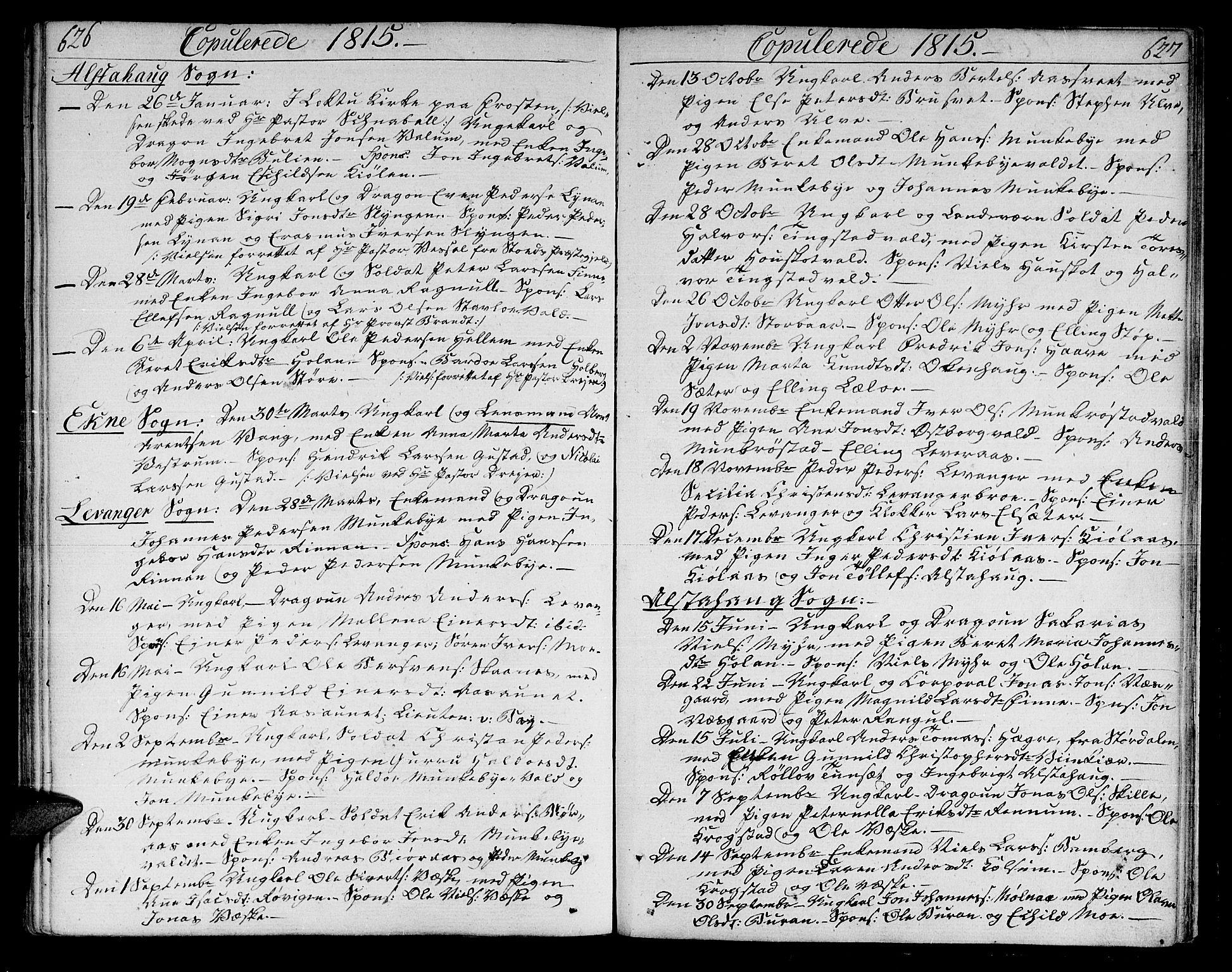SAT, Ministerialprotokoller, klokkerbøker og fødselsregistre - Nord-Trøndelag, 717/L0145: Ministerialbok nr. 717A03 /1, 1810-1815, s. 626-627