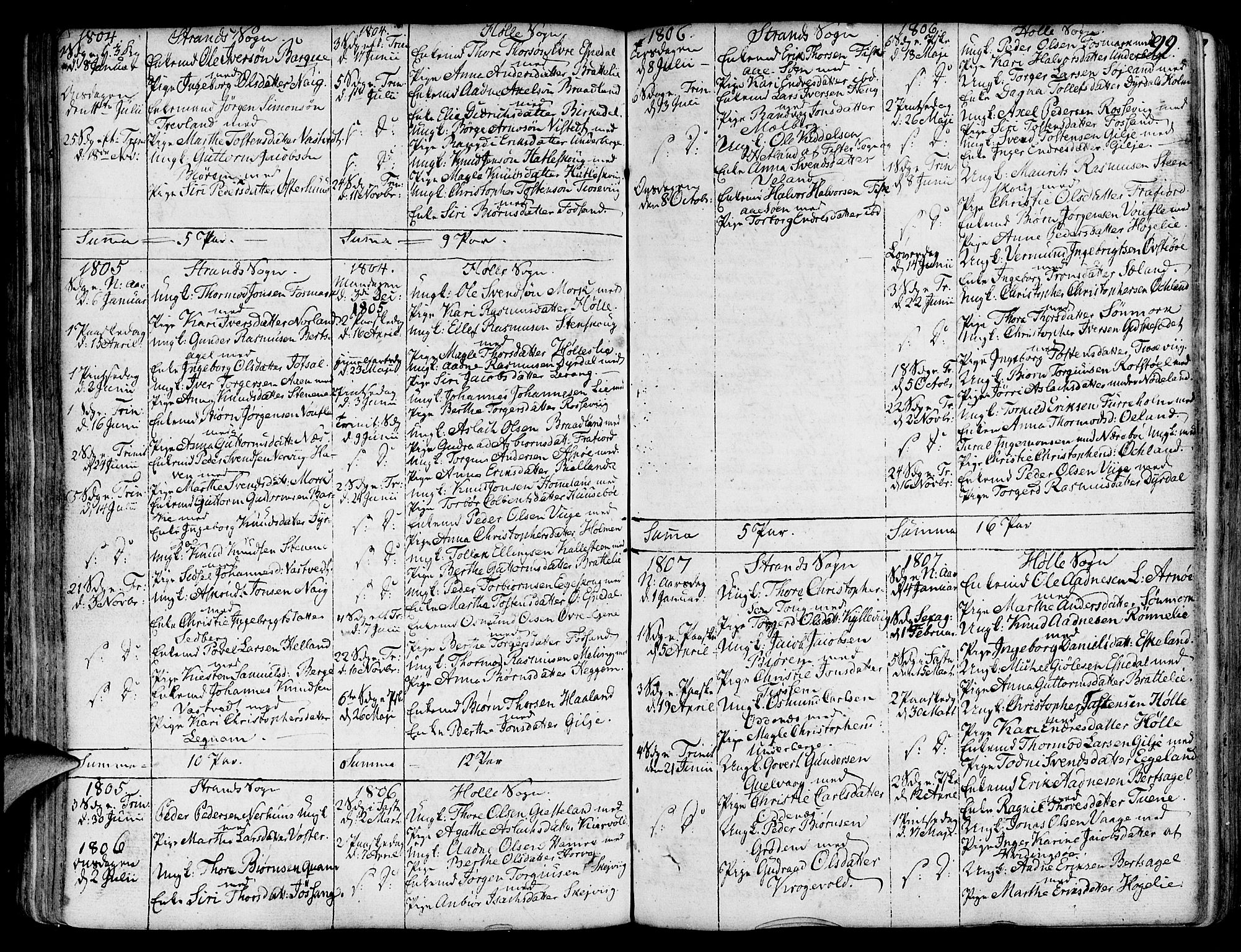 SAST, Strand sokneprestkontor, H/Ha/Haa/L0003: Ministerialbok nr. A 3, 1769-1816, s. 99