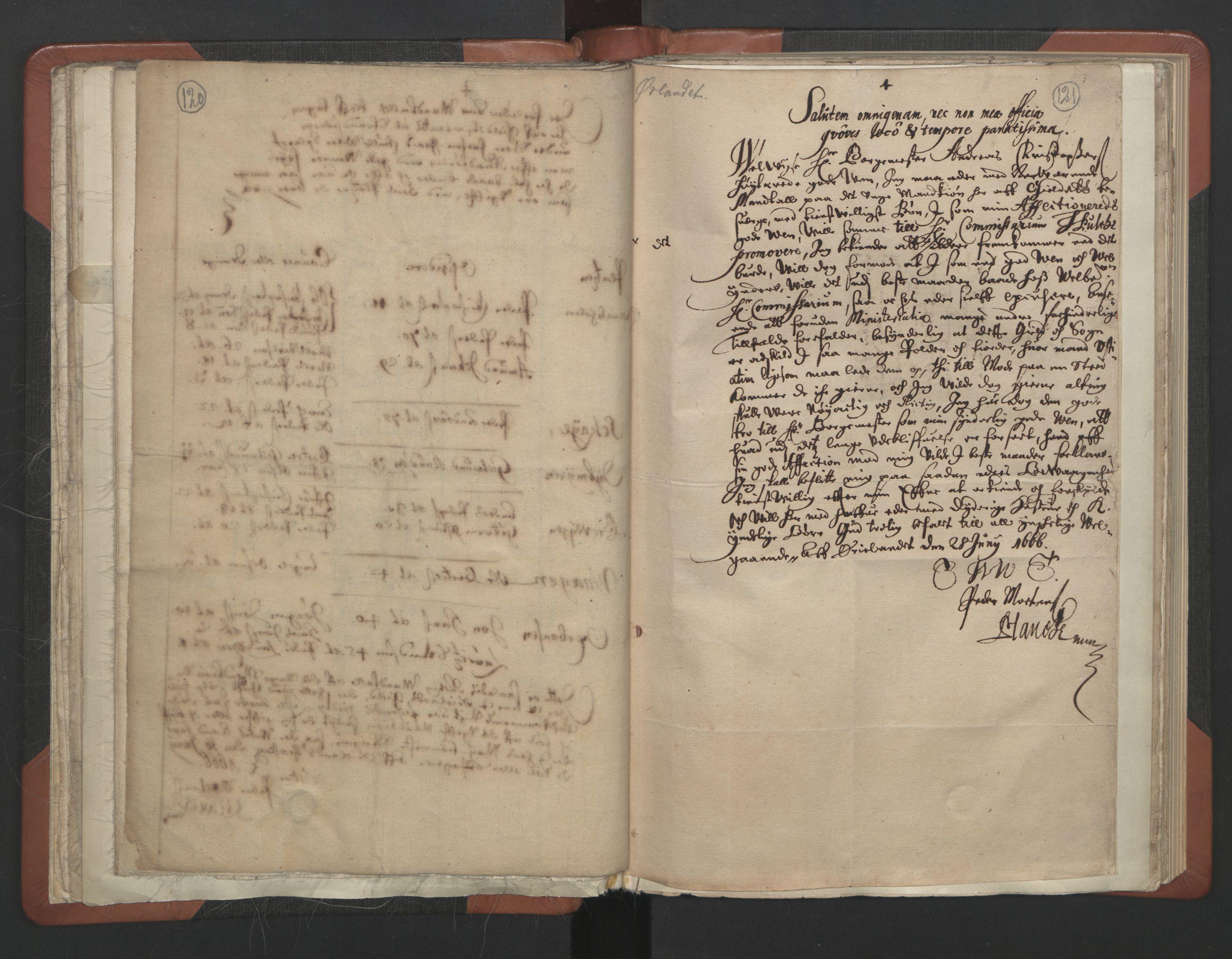 RA, Sogneprestenes manntall 1664-1666, nr. 30: Fosen prosti, 1664-1666, s. 120-121
