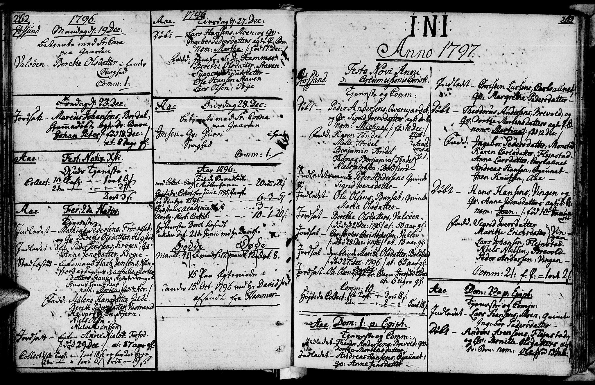 SAT, Ministerialprotokoller, klokkerbøker og fødselsregistre - Sør-Trøndelag, 655/L0673: Ministerialbok nr. 655A02, 1780-1801, s. 262-263