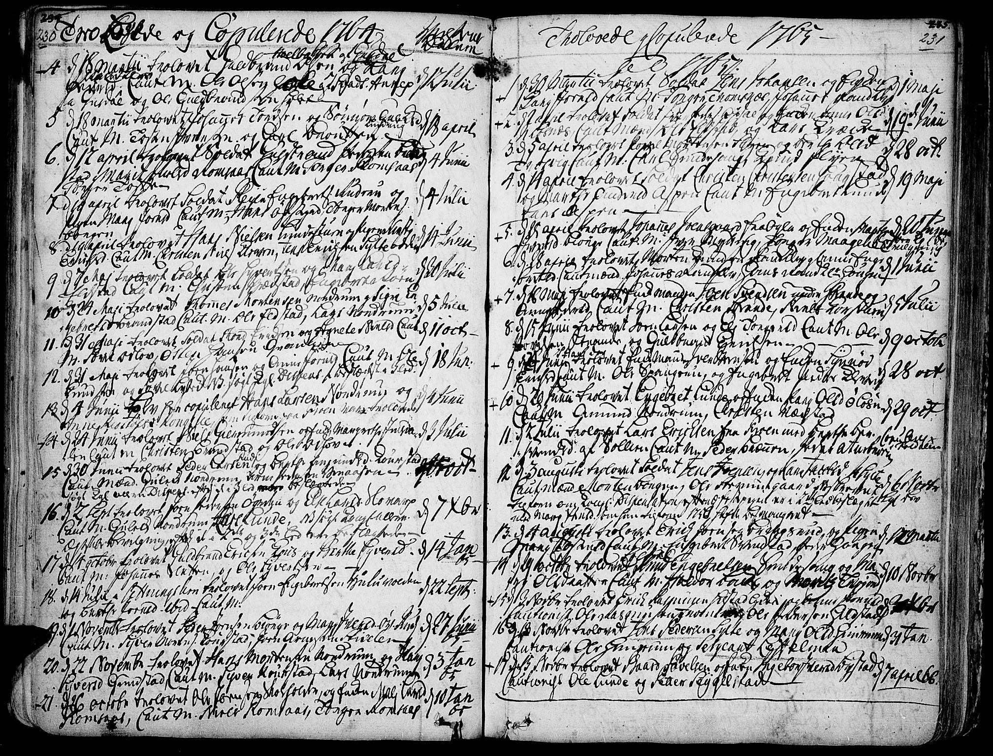 SAH, Ringebu prestekontor, Ministerialbok nr. 2, 1734-1780, s. 230-231