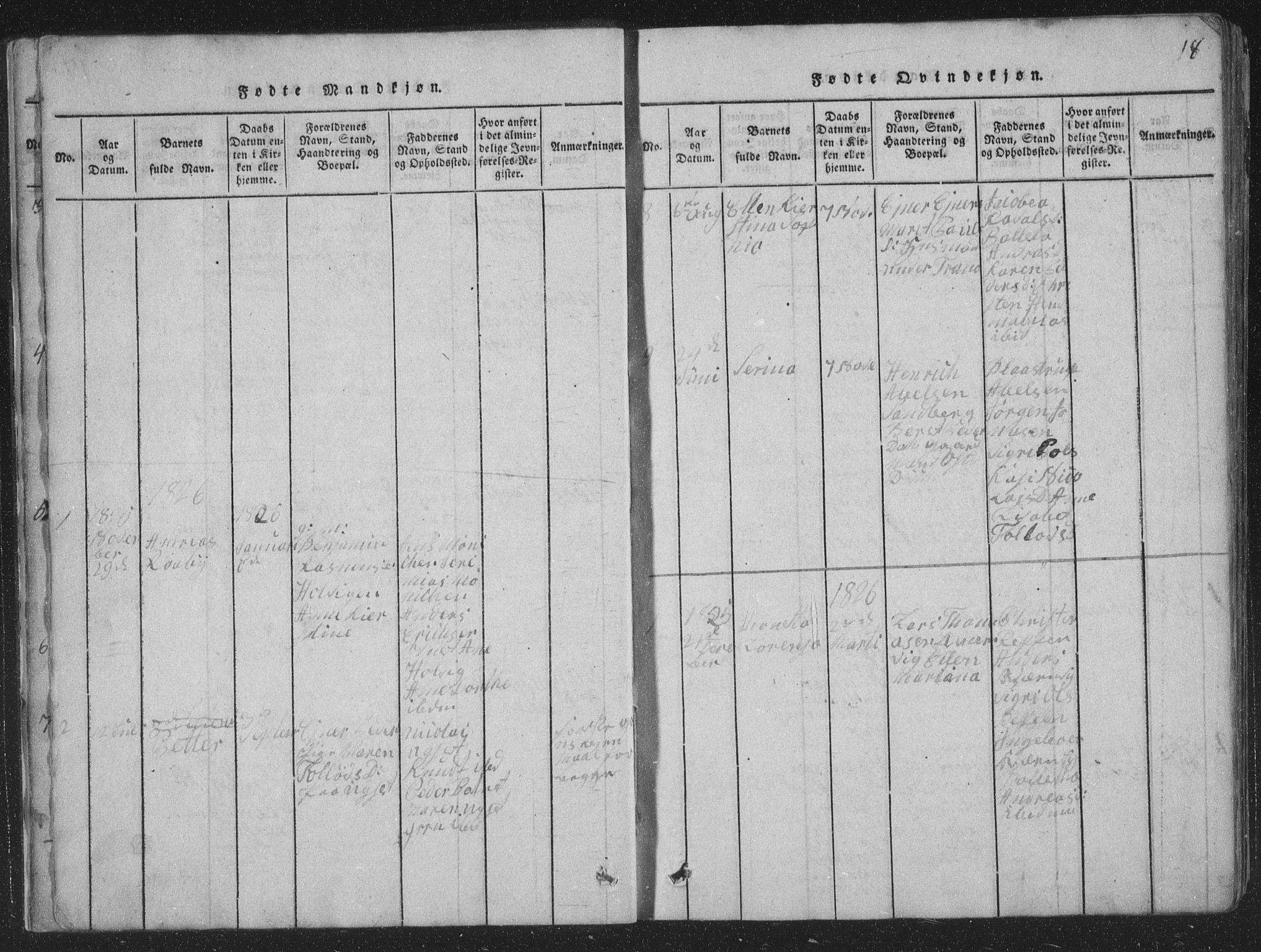 SAT, Ministerialprotokoller, klokkerbøker og fødselsregistre - Nord-Trøndelag, 773/L0613: Ministerialbok nr. 773A04, 1815-1845, s. 18