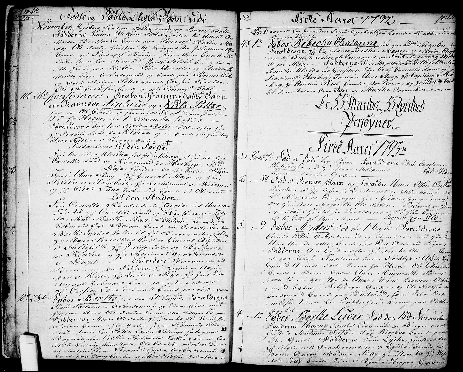 SAO, Halden prestekontor Kirkebøker, F/Fa/L0002: Ministerialbok nr. I 2, 1792-1812, s. 24-25