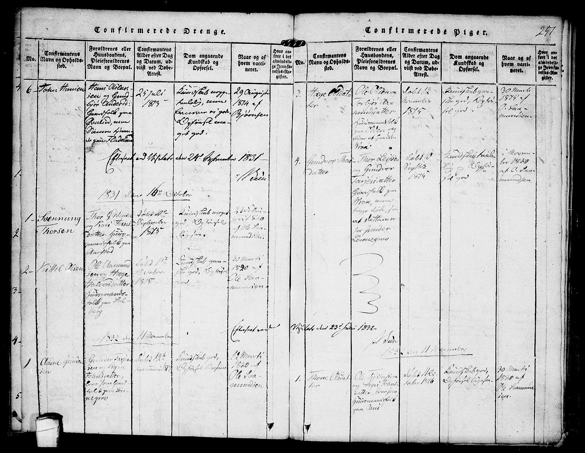 SAKO, Kviteseid kirkebøker, F/Fc/L0001: Ministerialbok nr. III 1, 1815-1836, s. 251