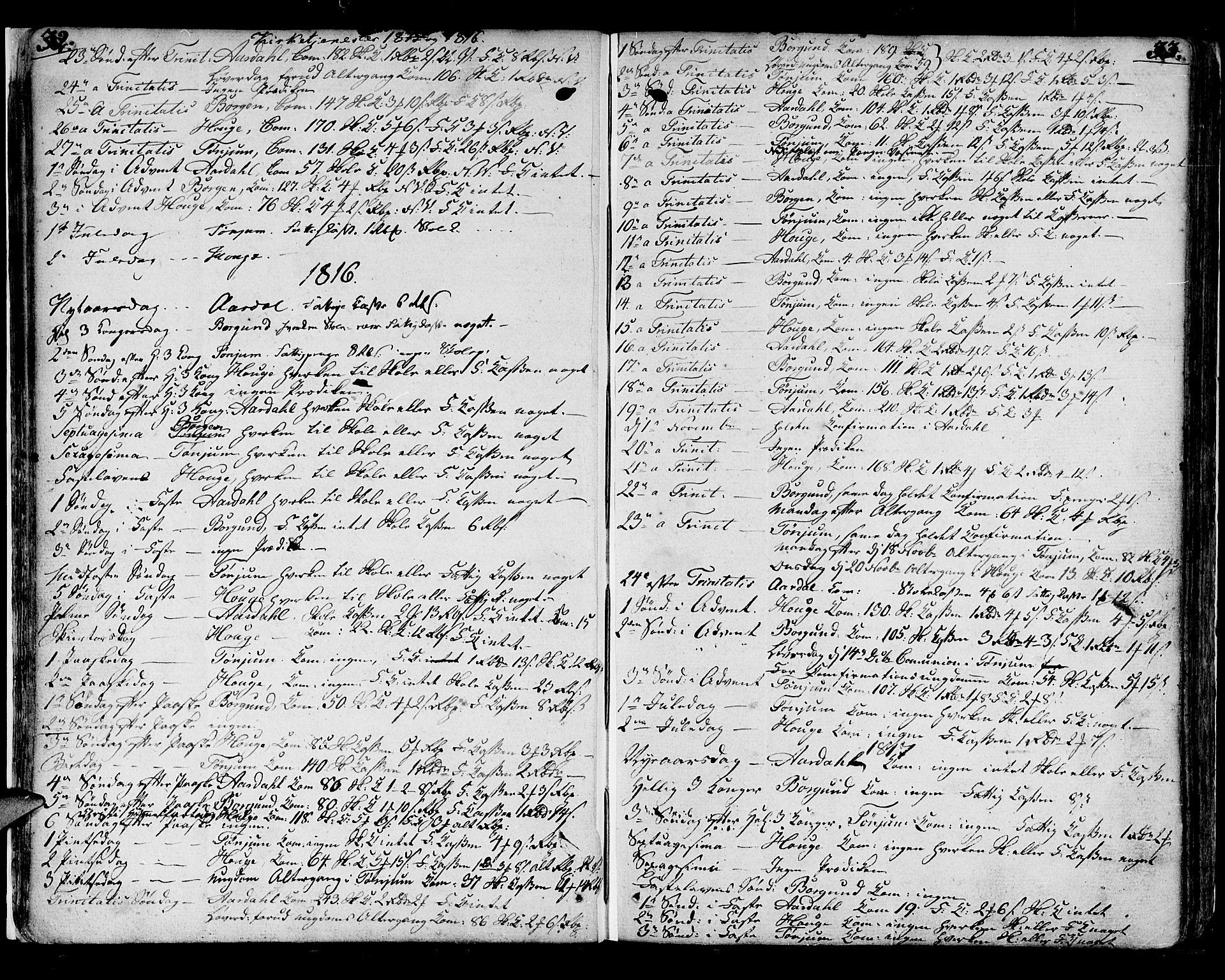 SAB, Lærdal sokneprestembete, Ministerialbok nr. A 4, 1805-1821, s. 32-33