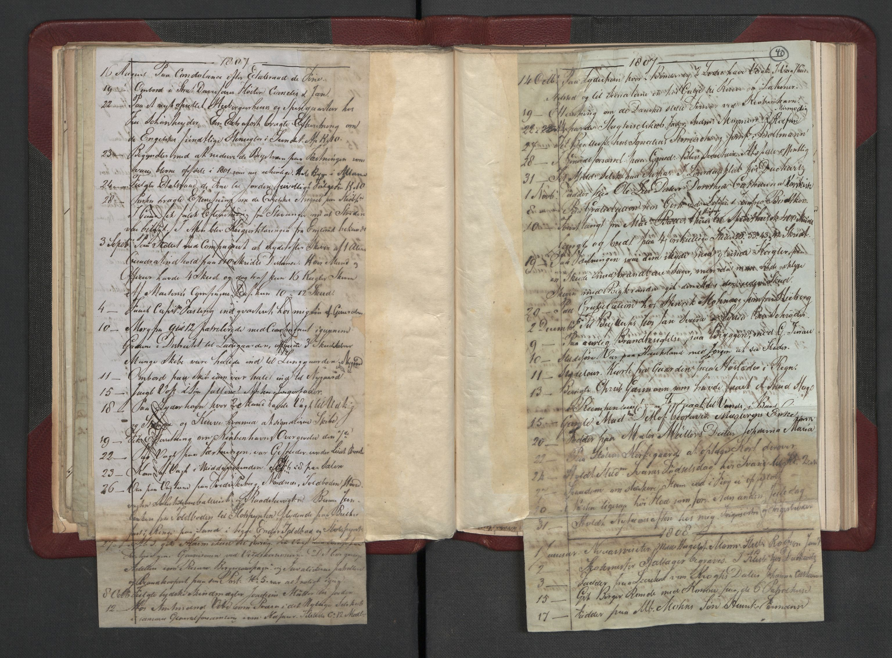 RA, Meltzer, Fredrik, F/L0002: Dagbok, 1796-1808, s. 39b-40a