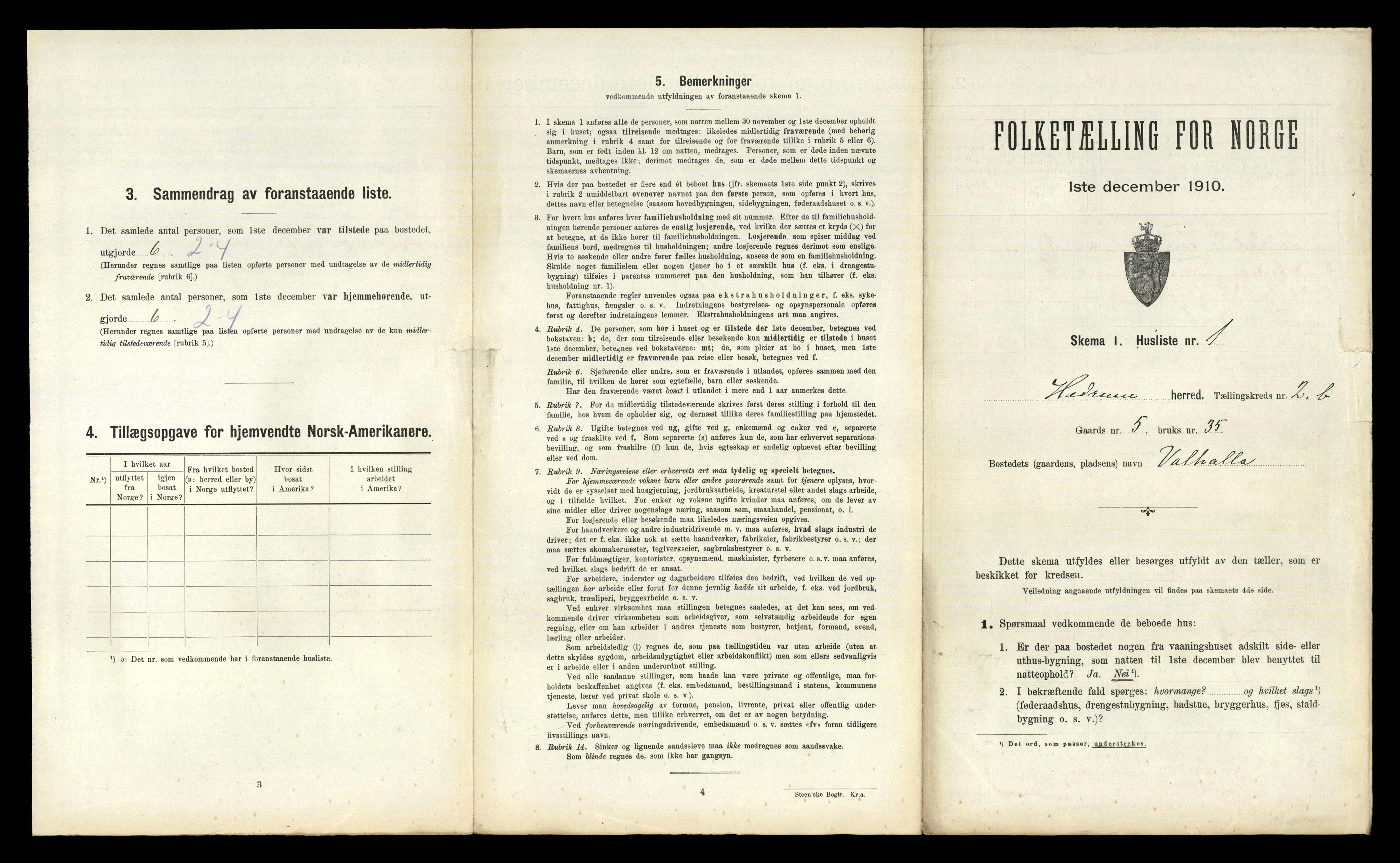 RA, Folketelling 1910 for 0727 Hedrum herred, 1910, s. 270