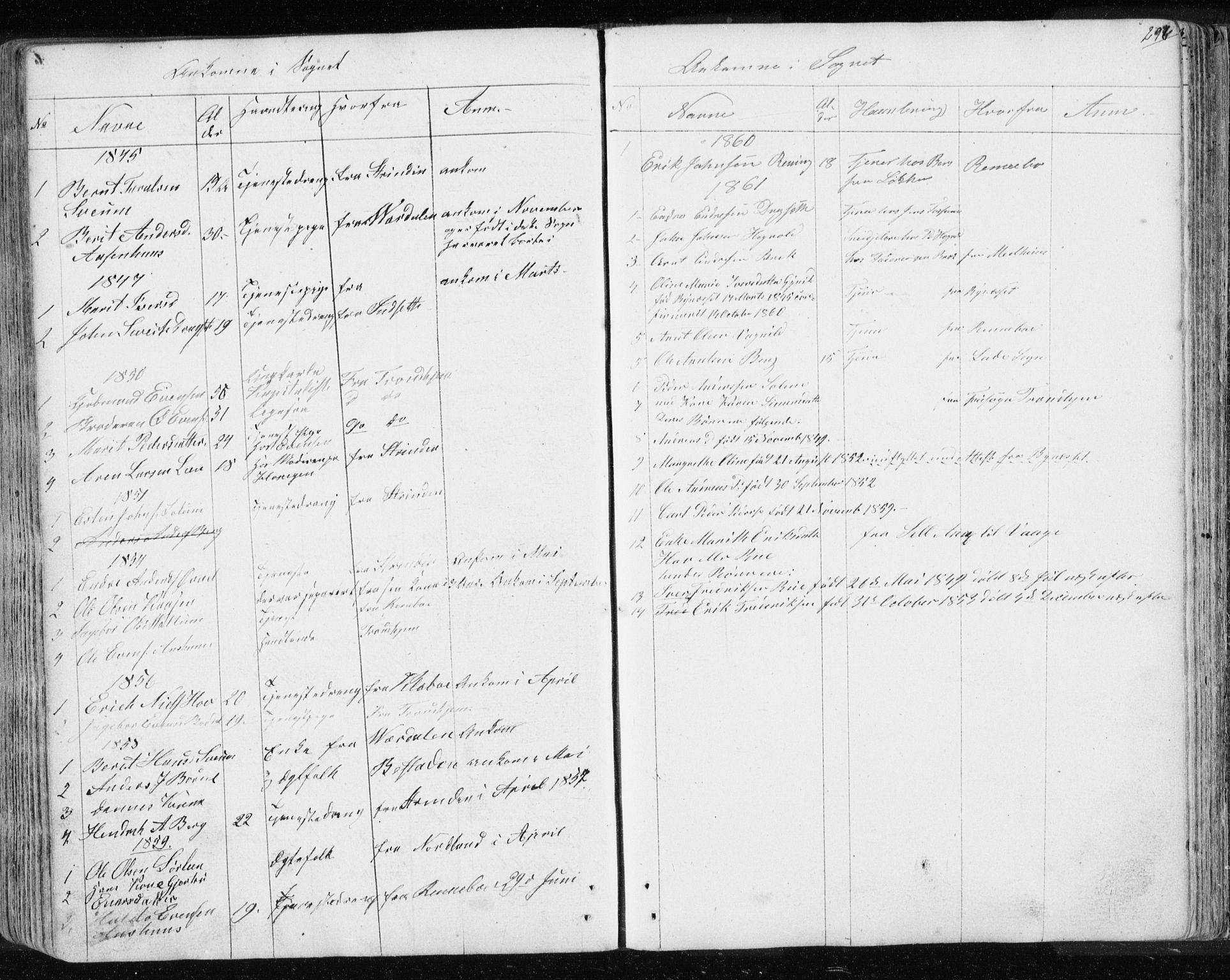 SAT, Ministerialprotokoller, klokkerbøker og fødselsregistre - Sør-Trøndelag, 689/L1043: Klokkerbok nr. 689C02, 1816-1892, s. 297