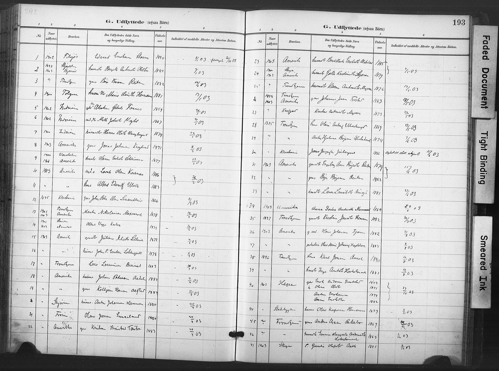 SAT, Ministerialprotokoller, klokkerbøker og fødselsregistre - Nord-Trøndelag, 713/L0122: Ministerialbok nr. 713A11, 1899-1910, s. 193