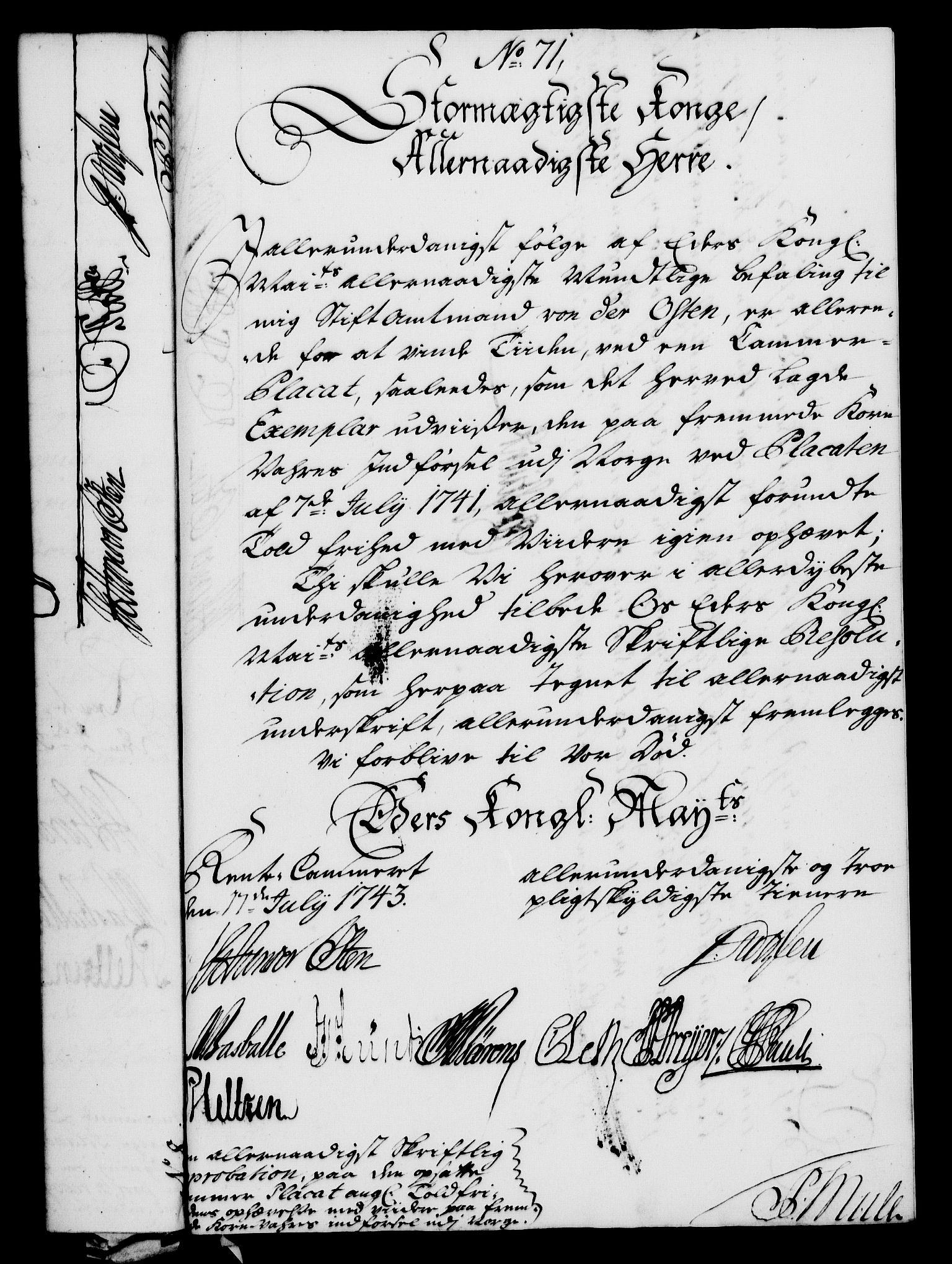 RA, Rentekammeret, Kammerkanselliet, G/Gf/Gfa/L0026: Norsk relasjons- og resolusjonsprotokoll (merket RK 52.26), 1743, s. 473