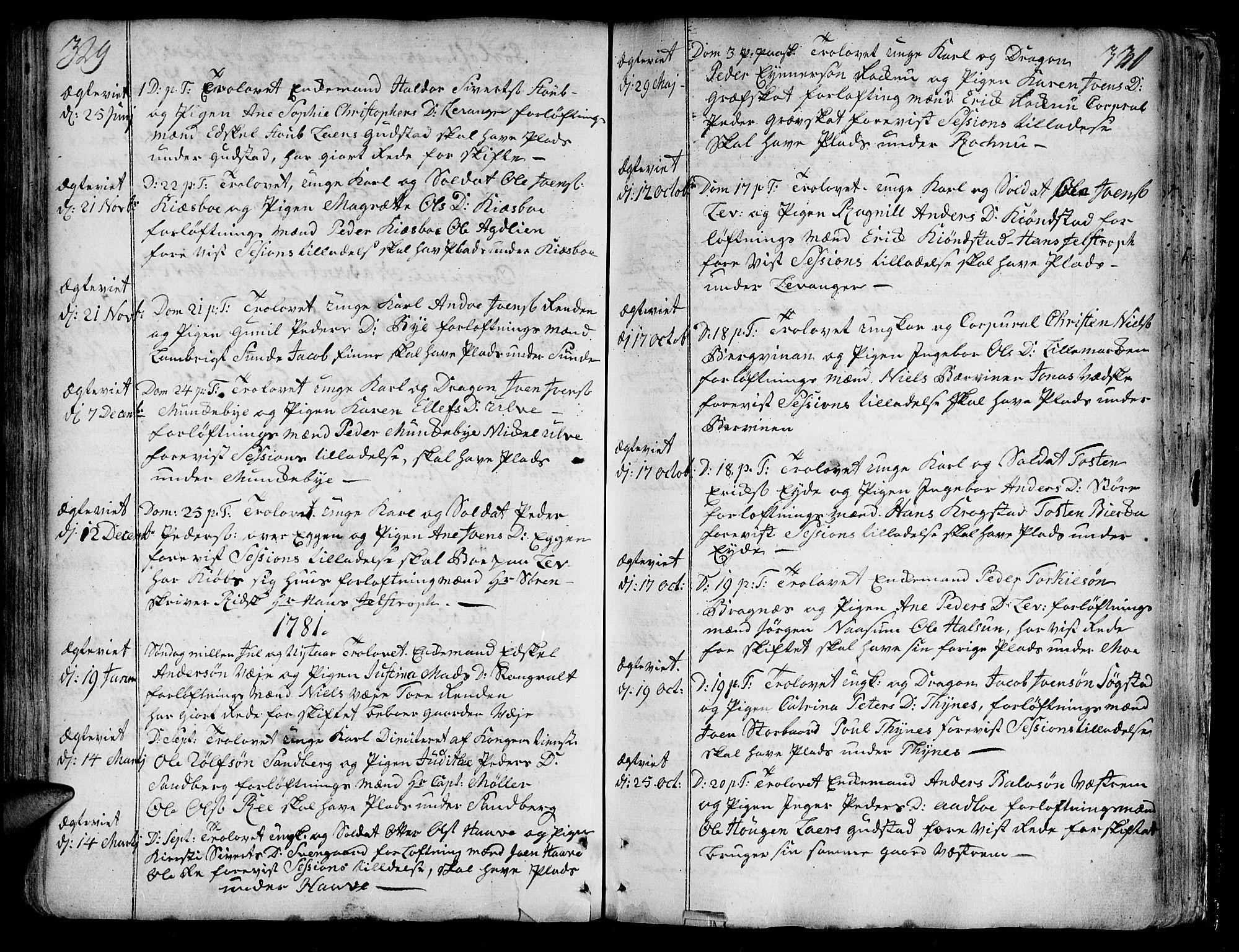SAT, Ministerialprotokoller, klokkerbøker og fødselsregistre - Nord-Trøndelag, 717/L0141: Ministerialbok nr. 717A01, 1747-1803, s. 329-330