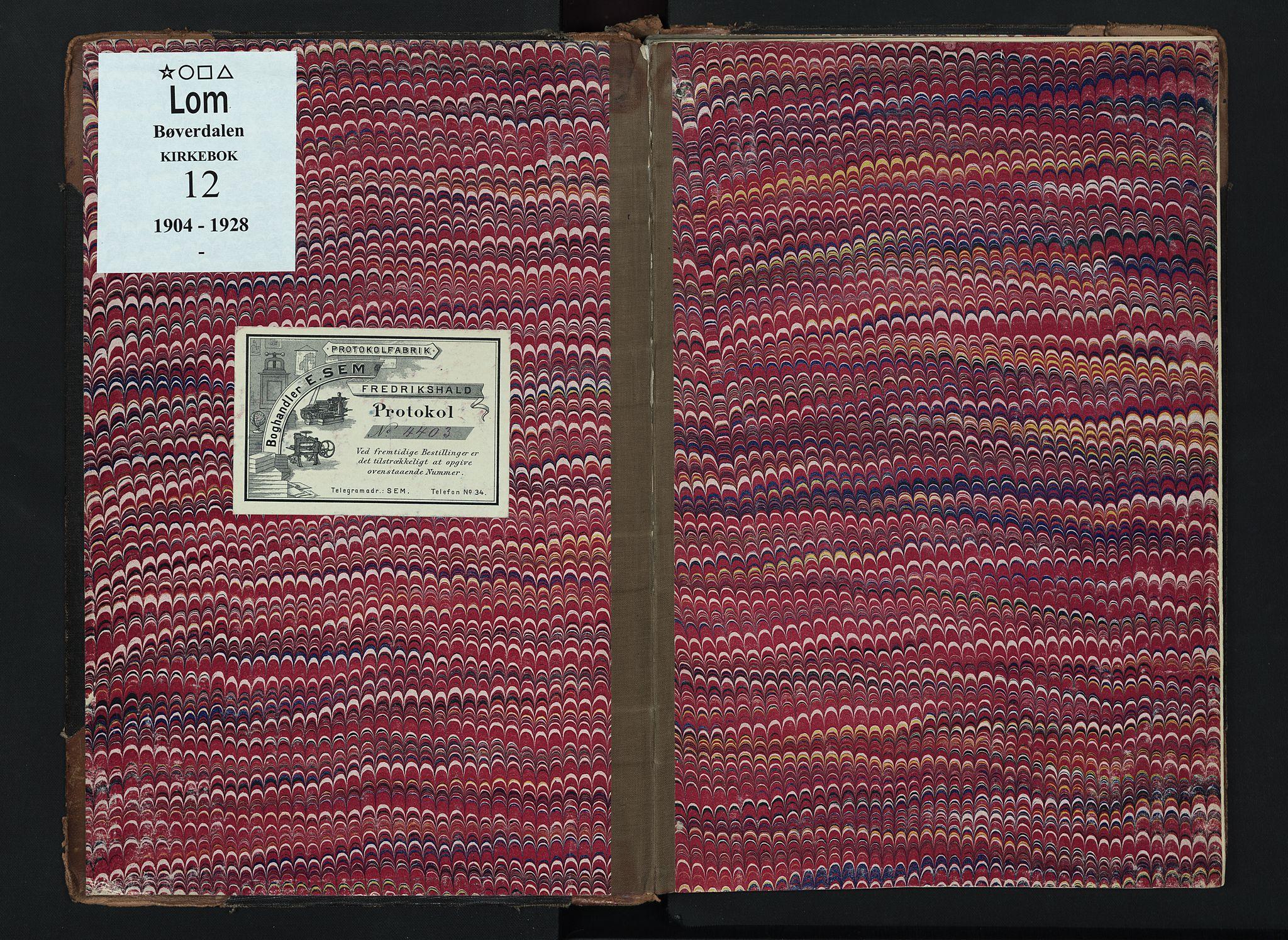 SAH, Lom prestekontor, K/L0012: Ministerialbok nr. 12, 1904-1928
