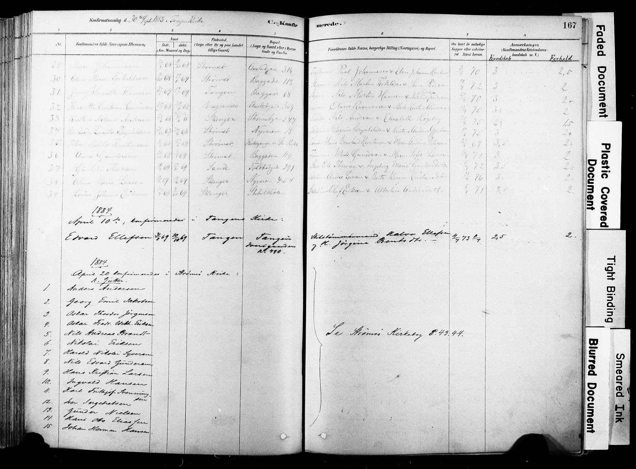 SAKO, Strømsø kirkebøker, F/Fb/L0006: Ministerialbok nr. II 6, 1879-1910, s. 167