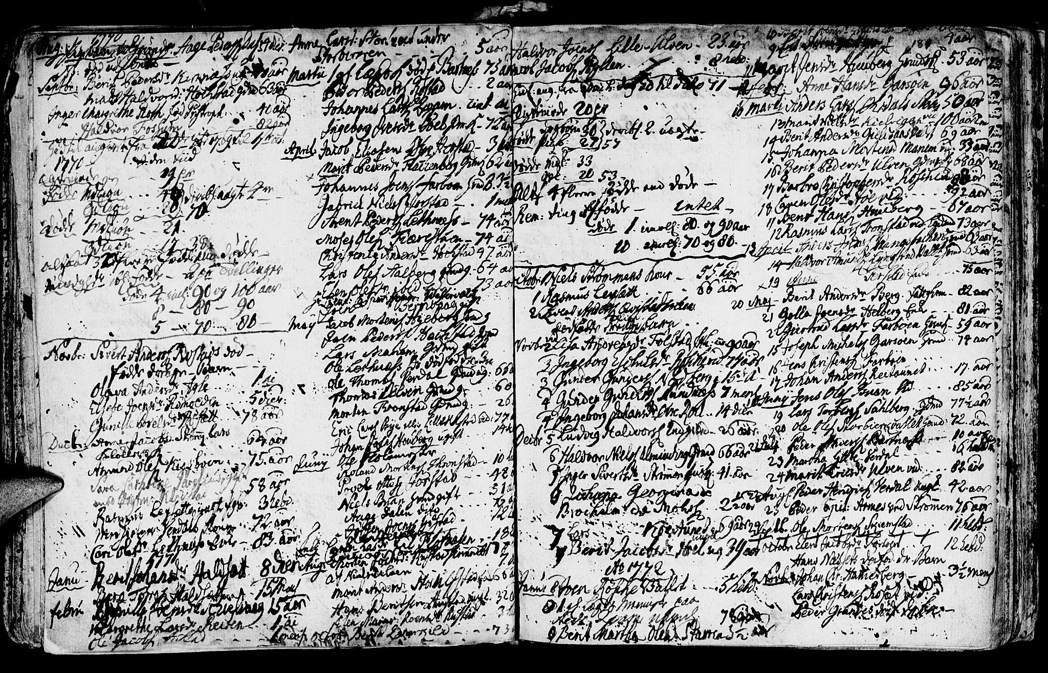 SAT, Ministerialprotokoller, klokkerbøker og fødselsregistre - Nord-Trøndelag, 730/L0273: Ministerialbok nr. 730A02, 1762-1802, s. 180