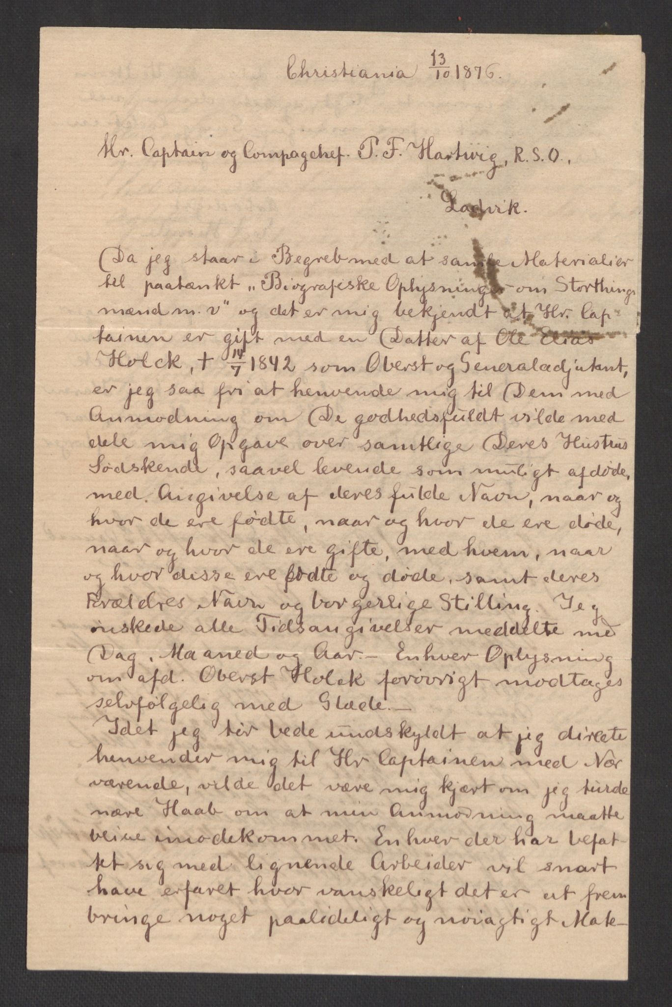 RA, Holck, Meidell, Hartvig, F/L0002: (Pakke 1), 1762-1864, s. 166