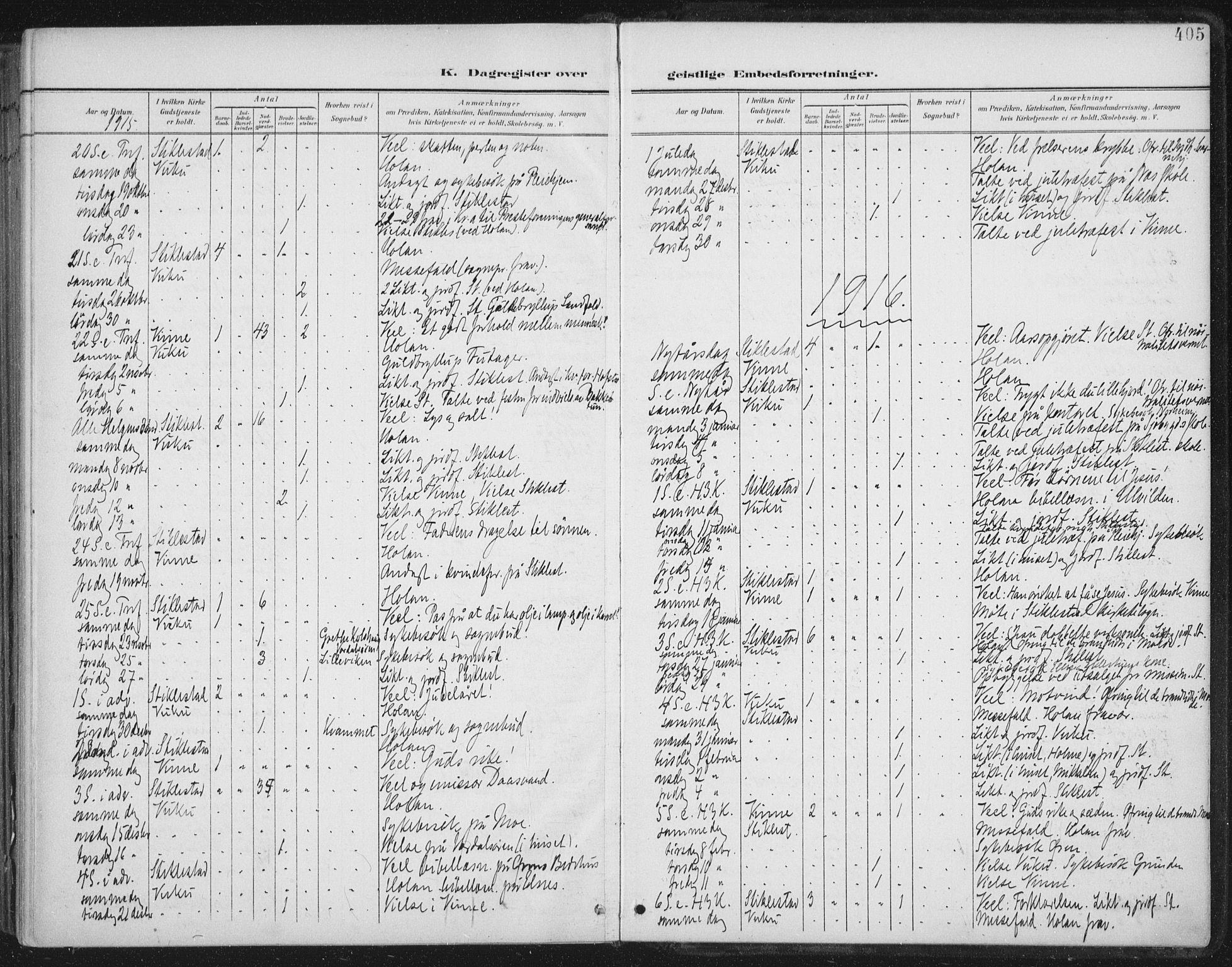 SAT, Ministerialprotokoller, klokkerbøker og fødselsregistre - Nord-Trøndelag, 723/L0246: Ministerialbok nr. 723A15, 1900-1917, s. 405