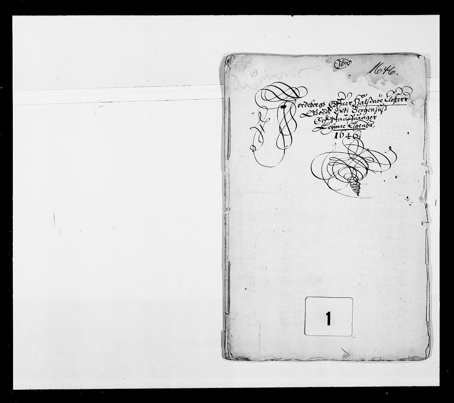 RA, Stattholderembetet 1572-1771, Ek/L0025: Jordebøker 1633-1658:, 1645-1646, s. 1