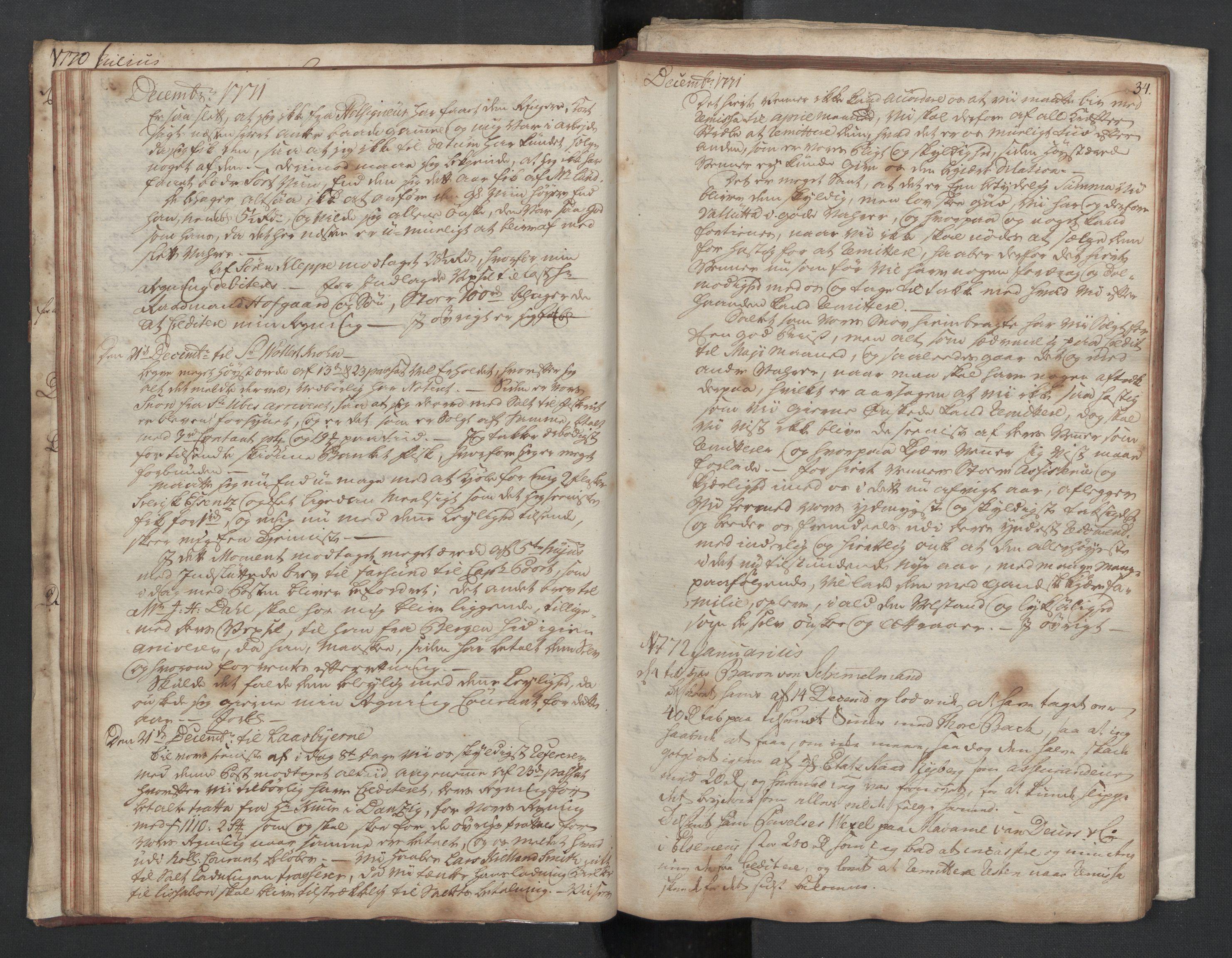 SAST, Pa 0003 - Ploug & Sundt, handelshuset, B/L0002: Kopibok, 1770-1775, s. 33b-34a