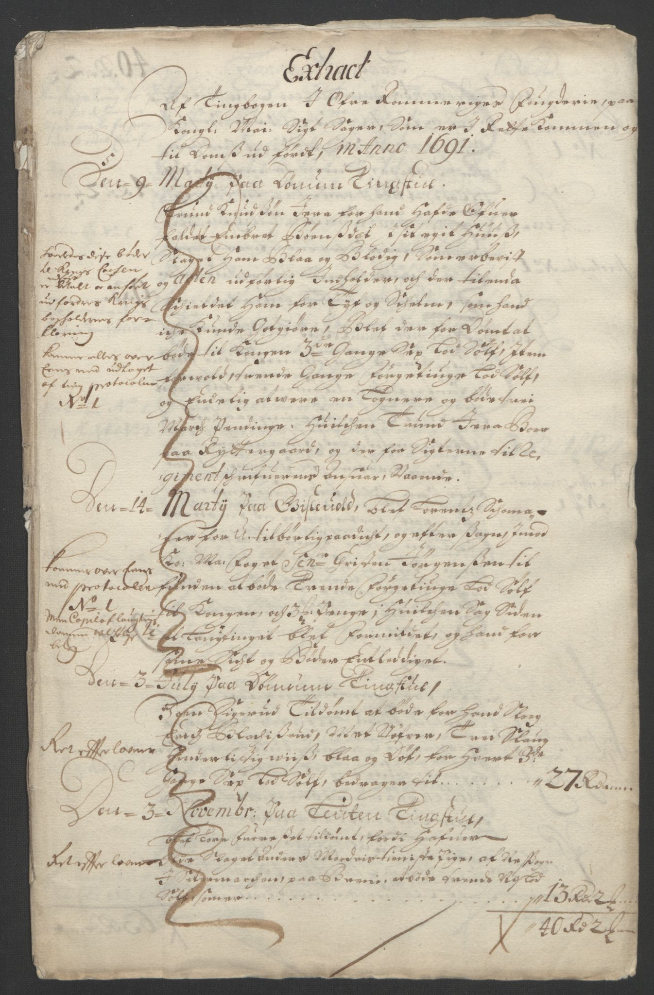 RA, Rentekammeret inntil 1814, Reviderte regnskaper, Fogderegnskap, R12/L0703: Fogderegnskap Øvre Romerike, 1691, s. 40