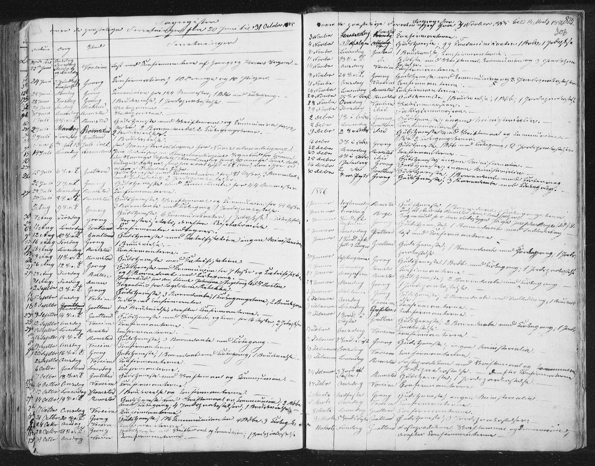 SAT, Ministerialprotokoller, klokkerbøker og fødselsregistre - Nord-Trøndelag, 758/L0513: Ministerialbok nr. 758A02 /1, 1839-1868, s. 306
