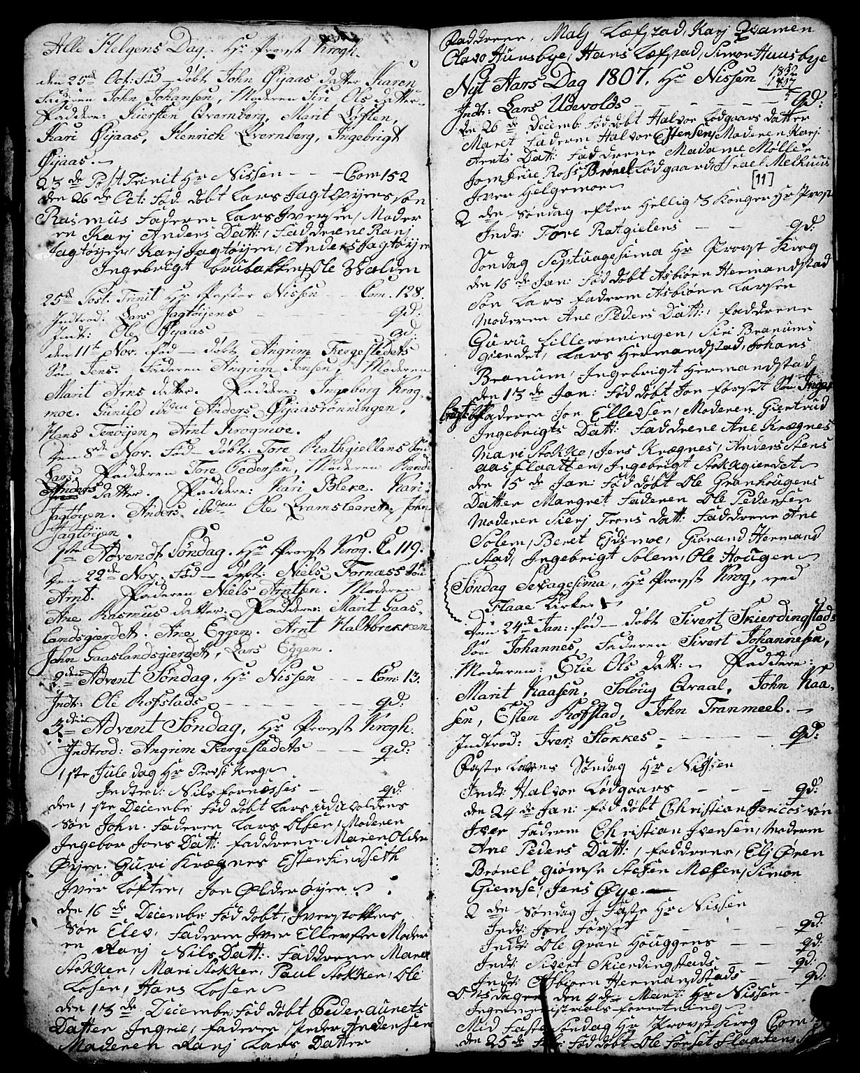 SAT, Ministerialprotokoller, klokkerbøker og fødselsregistre - Sør-Trøndelag, 691/L1091: Klokkerbok nr. 691C02, 1802-1815, s. 11