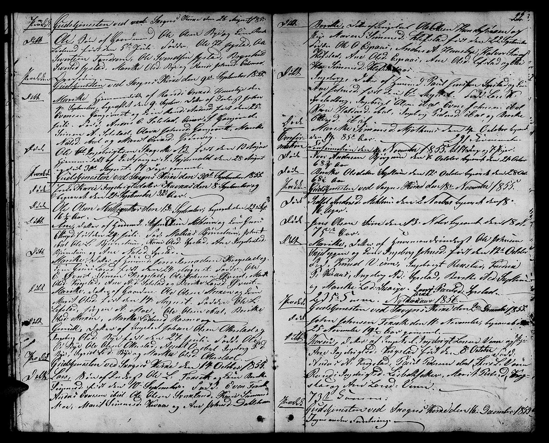 SAT, Ministerialprotokoller, klokkerbøker og fødselsregistre - Sør-Trøndelag, 667/L0797: Klokkerbok nr. 667C02, 1849-1867, s. 22