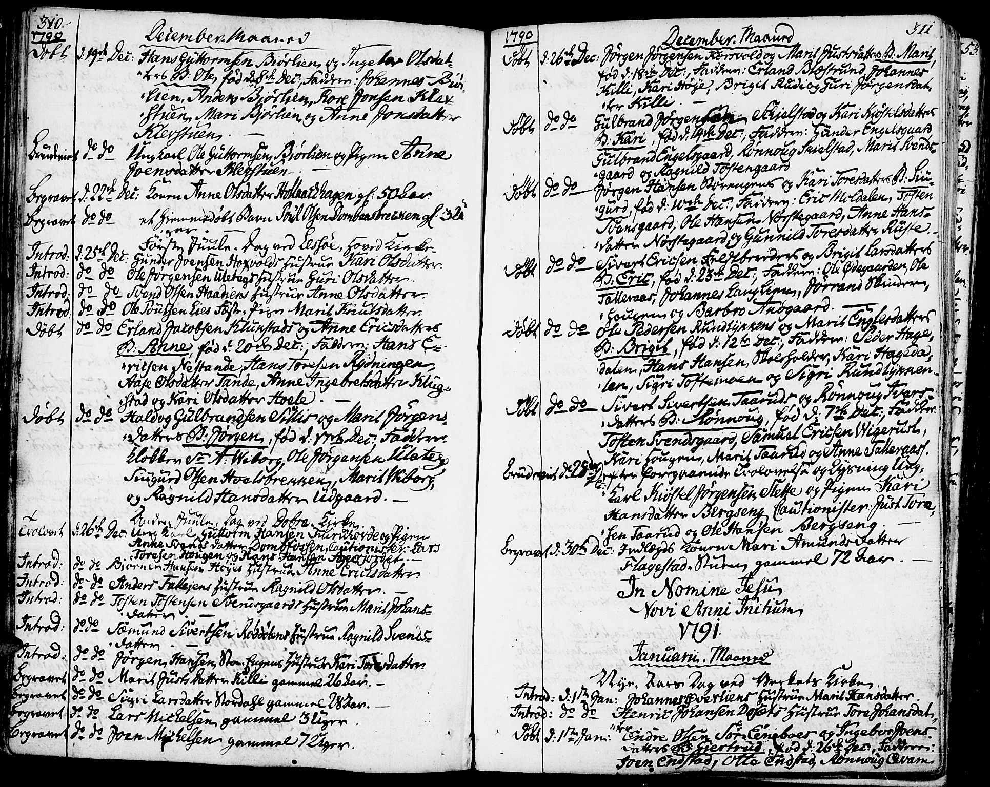 SAH, Lesja prestekontor, Ministerialbok nr. 3, 1777-1819, s. 310-311