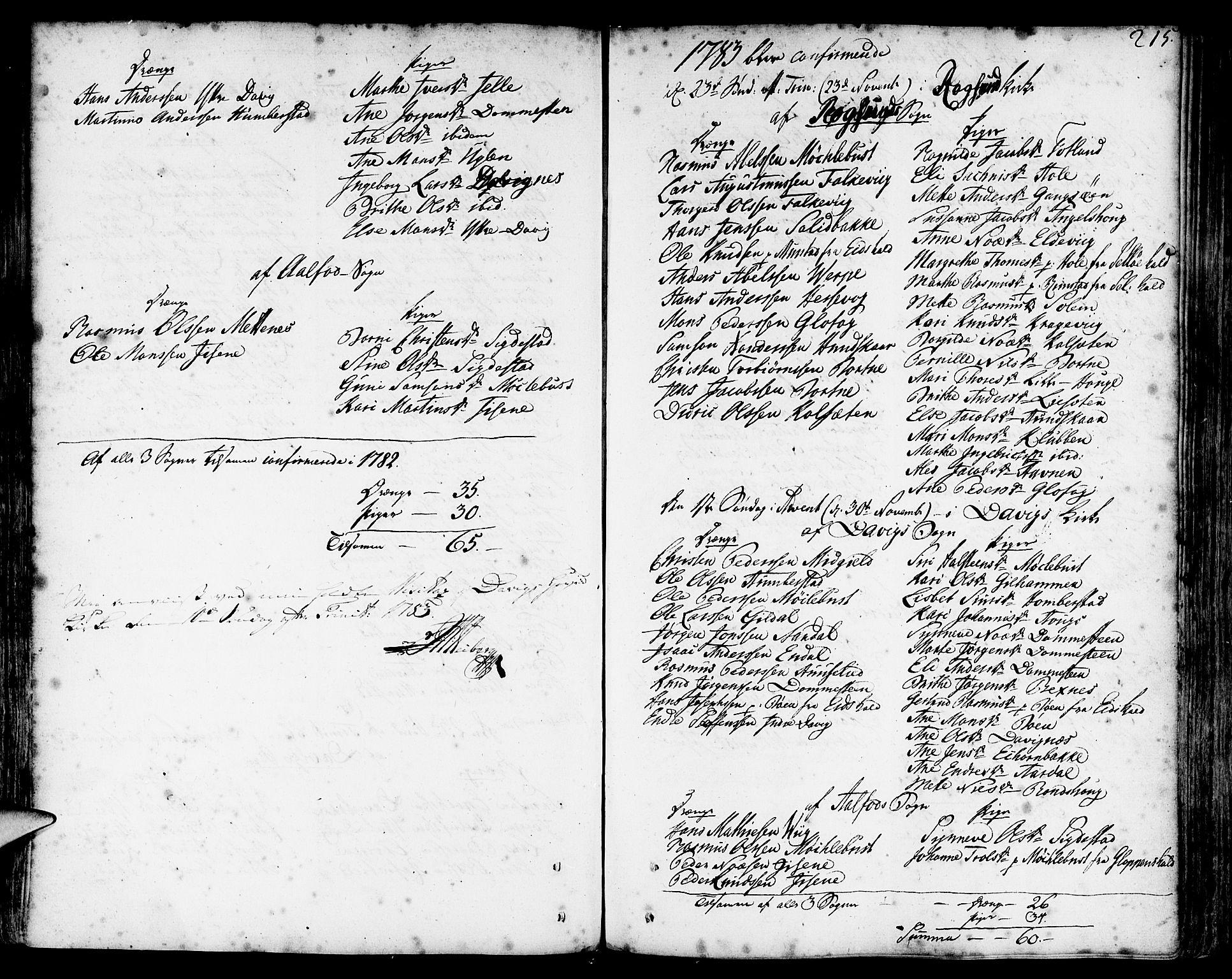 SAB, Davik Sokneprestembete, Ministerialbok nr. A 2, 1742-1816, s. 215