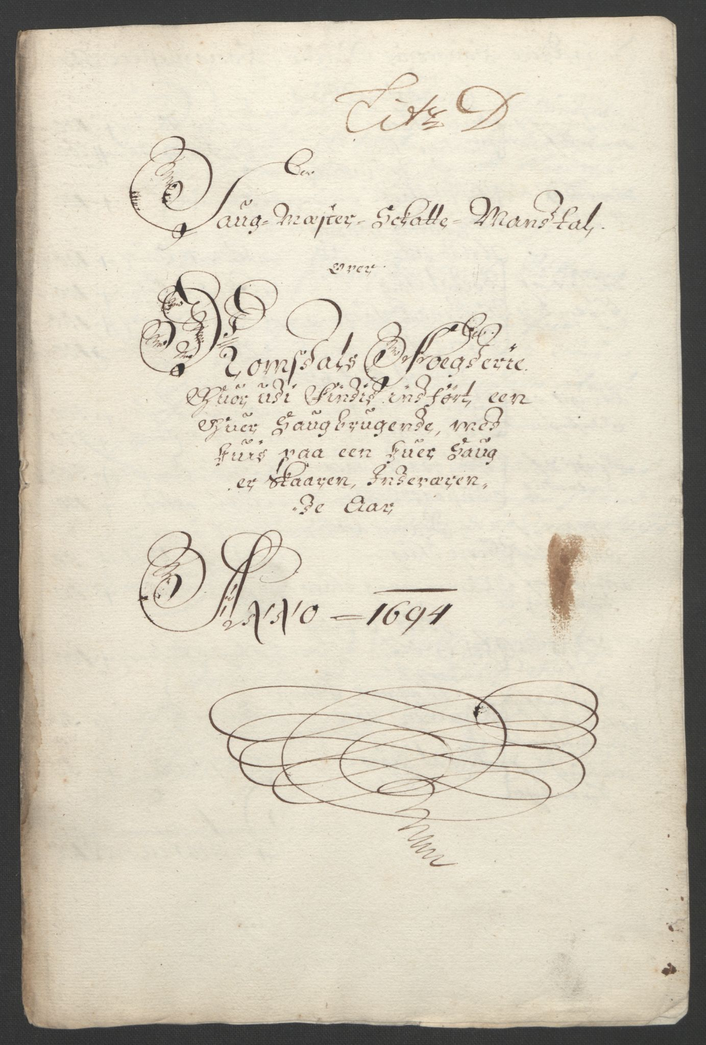 RA, Rentekammeret inntil 1814, Reviderte regnskaper, Fogderegnskap, R55/L3651: Fogderegnskap Romsdal, 1693-1694, s. 233