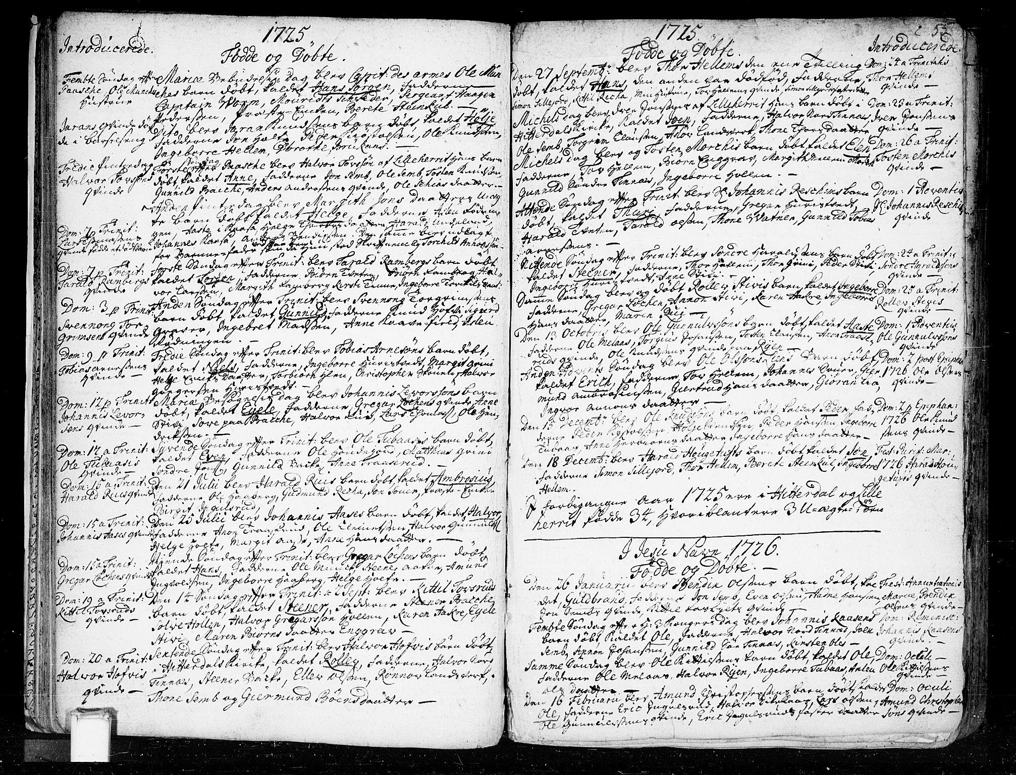 SAKO, Heddal kirkebøker, F/Fa/L0003: Ministerialbok nr. I 3, 1723-1783, s. 55