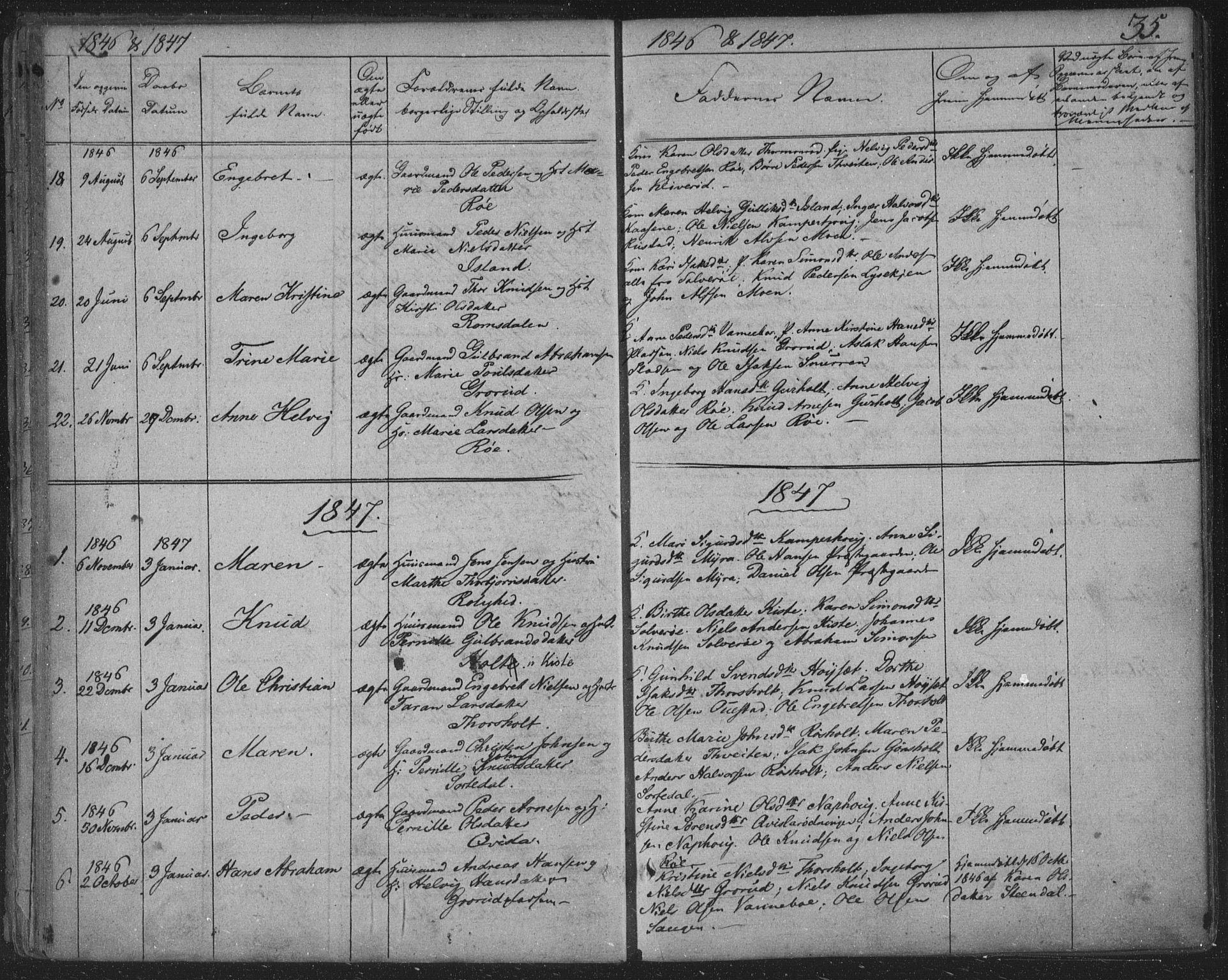SAKO, Siljan kirkebøker, F/Fa/L0001: Ministerialbok nr. 1, 1831-1870, s. 35