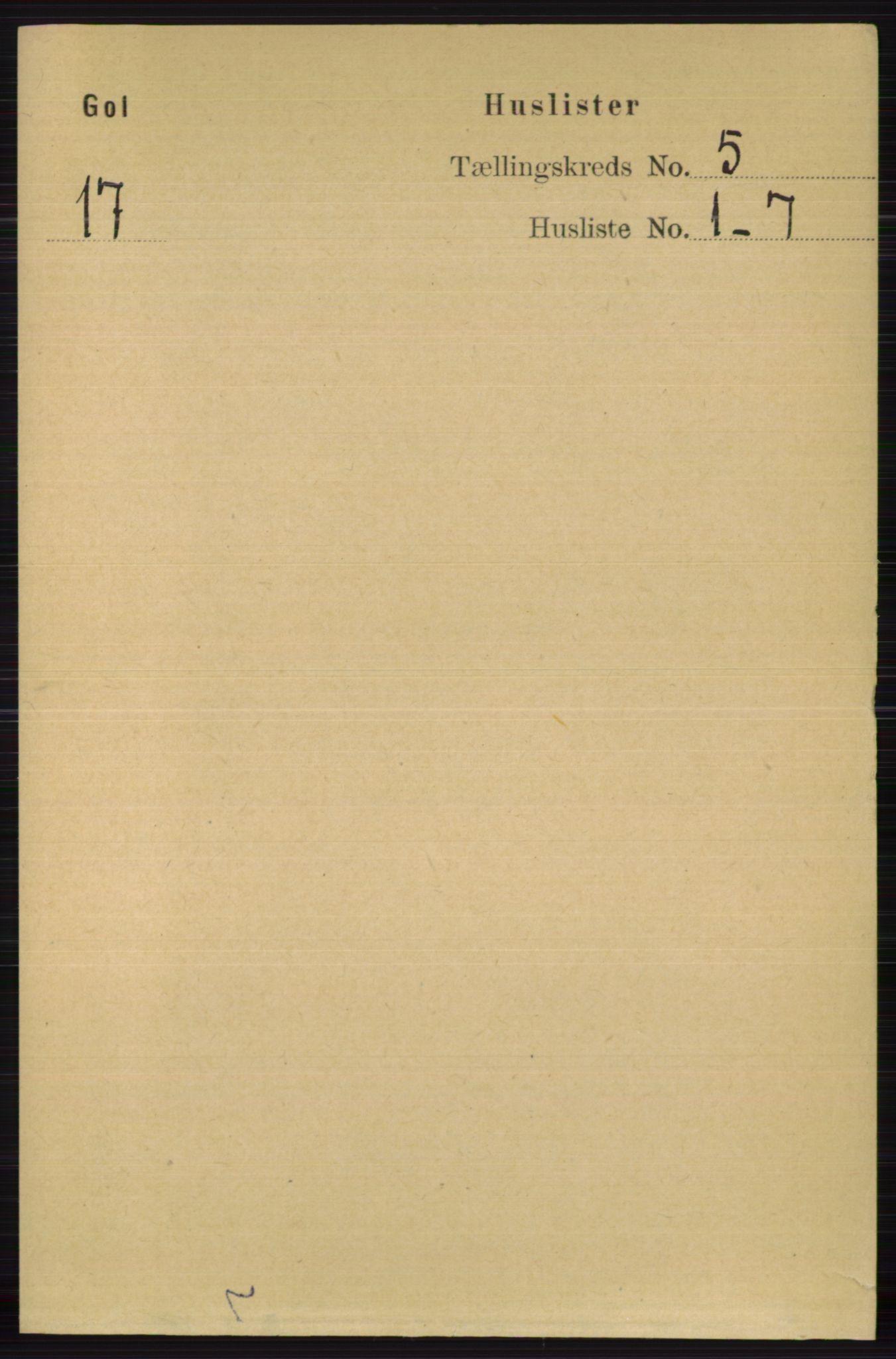RA, Folketelling 1891 for 0617 Gol og Hemsedal herred, 1891, s. 2295