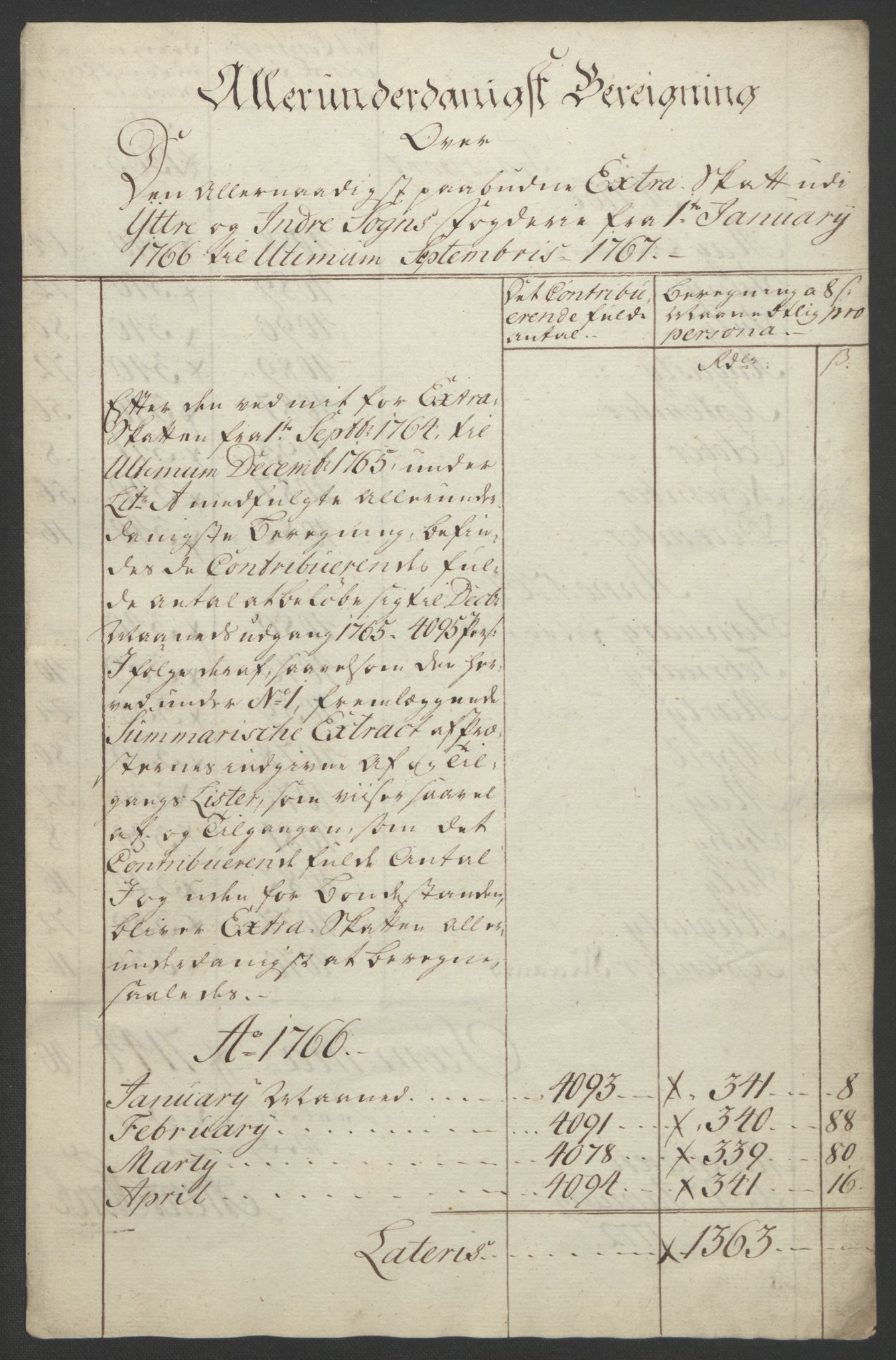 RA, Rentekammeret inntil 1814, Realistisk ordnet avdeling, Ol/L0018: [Gg 10]: Ekstraskatten, 23.09.1762. Sogn, 1762-1772, s. 133