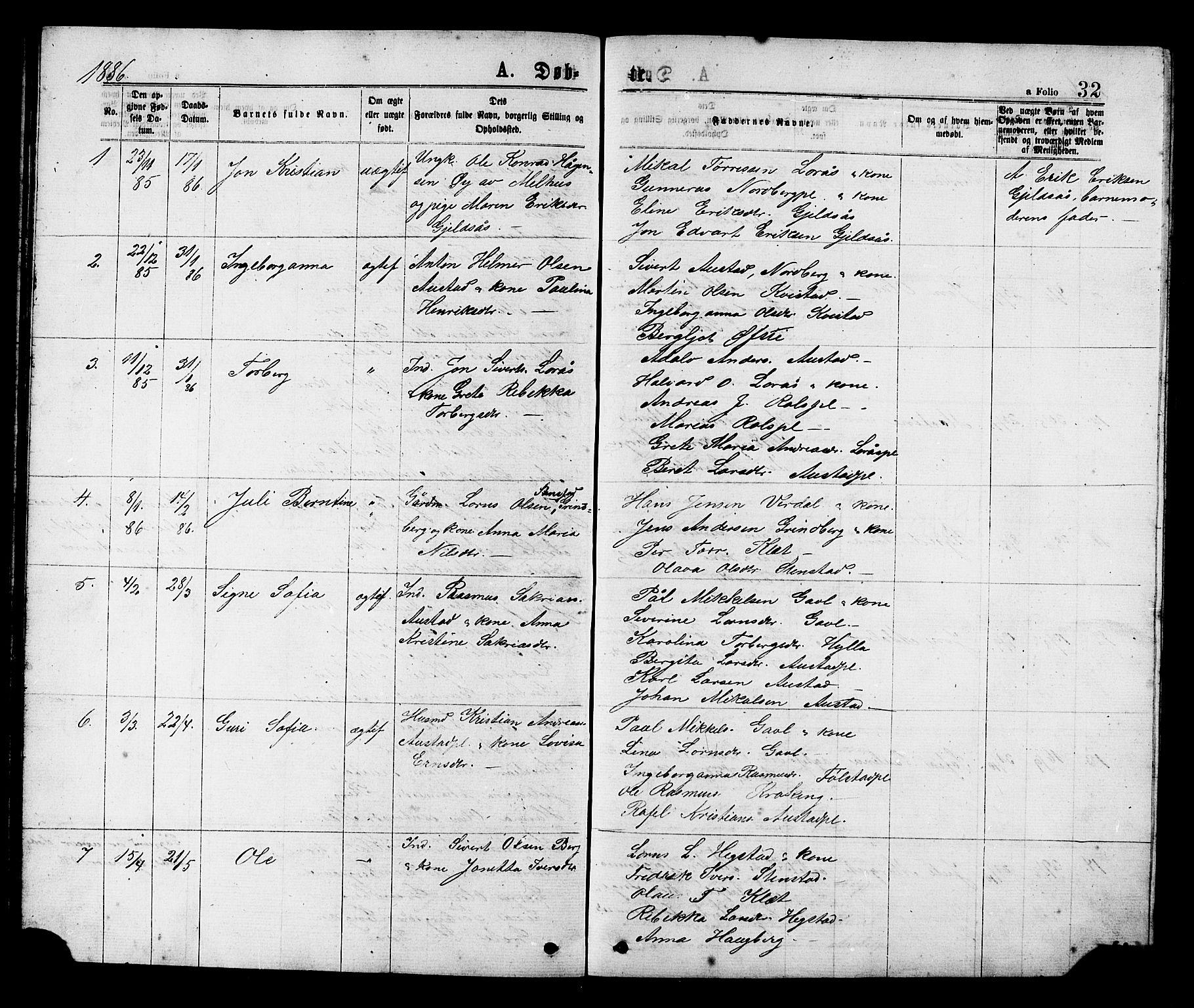 SAT, Ministerialprotokoller, klokkerbøker og fødselsregistre - Nord-Trøndelag, 731/L0311: Klokkerbok nr. 731C02, 1875-1911, s. 32