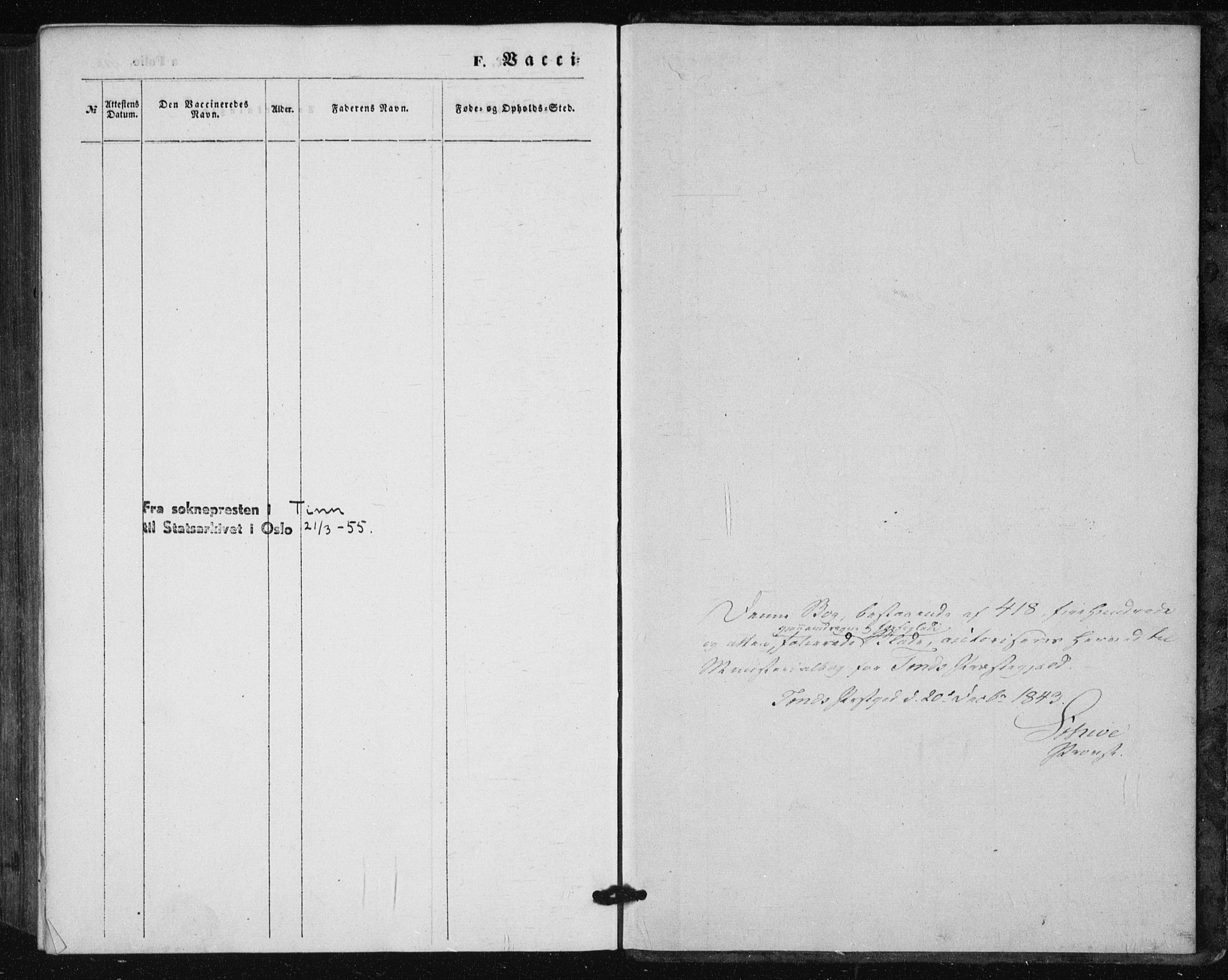SAKO, Tinn kirkebøker, F/Fa/L0005: Ministerialbok nr. I 5, 1844-1856