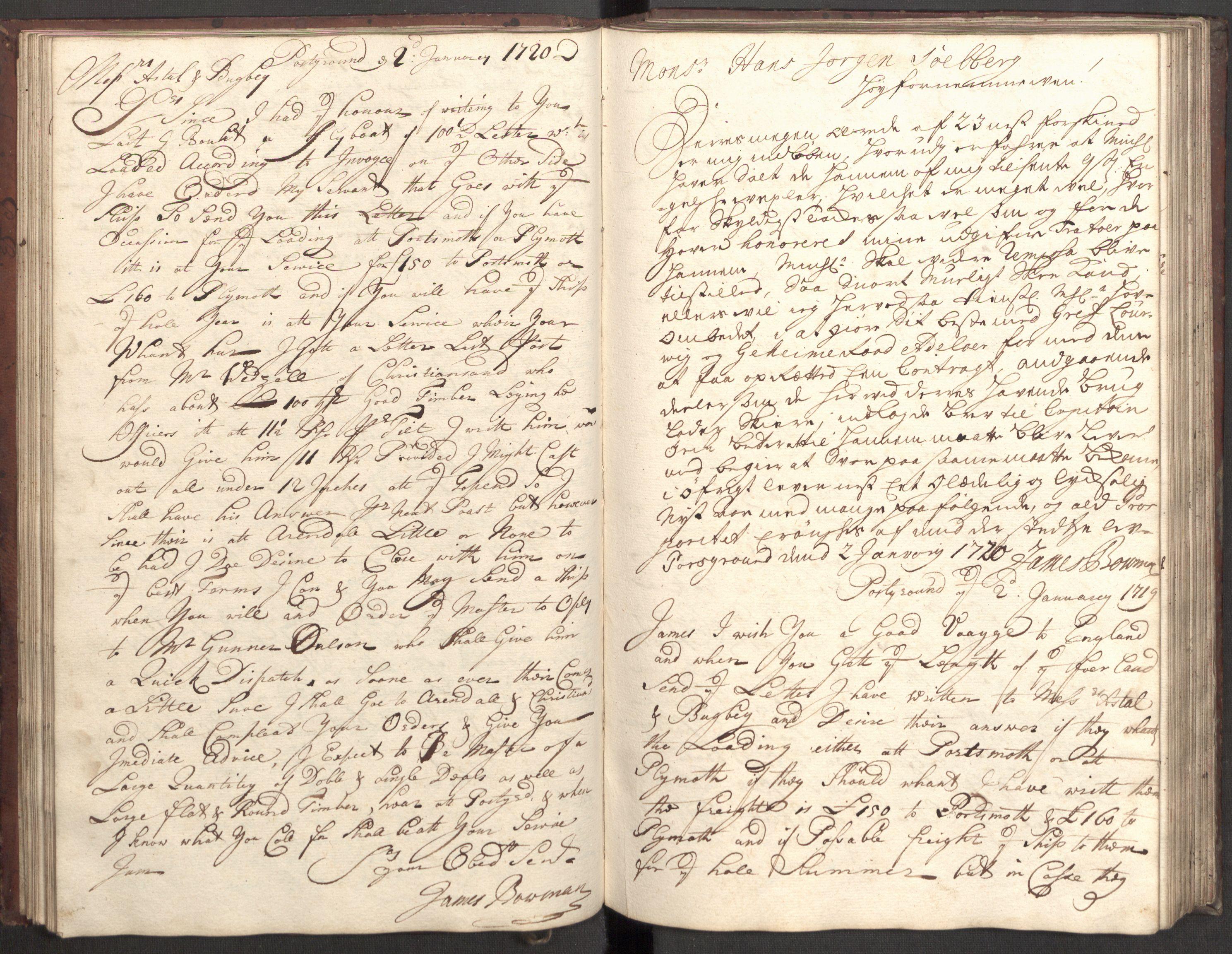 RA, Bowman, James, B/L0001, 1719-1720, s. 38