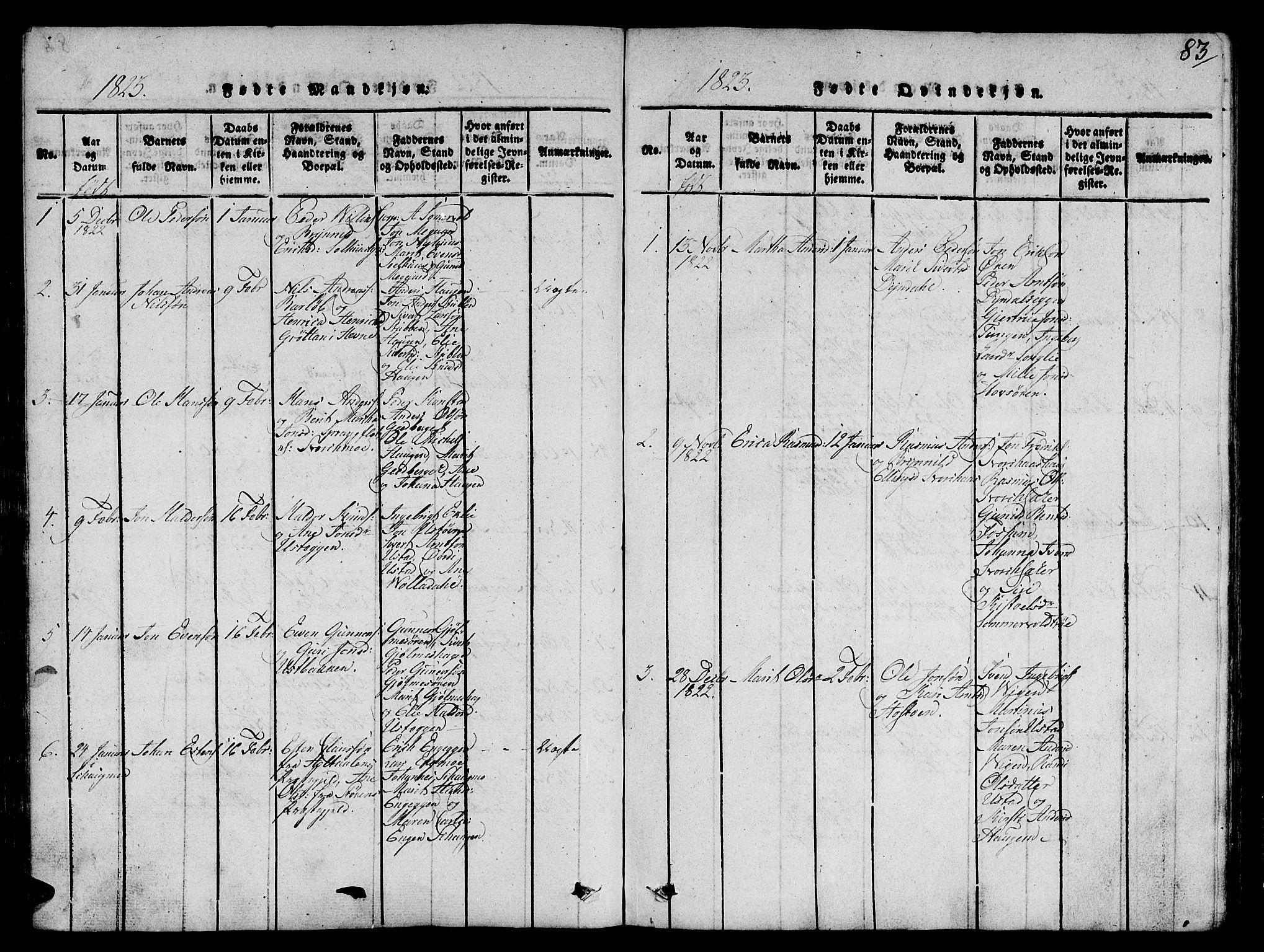 SAT, Ministerialprotokoller, klokkerbøker og fødselsregistre - Sør-Trøndelag, 668/L0803: Ministerialbok nr. 668A03, 1800-1826, s. 83