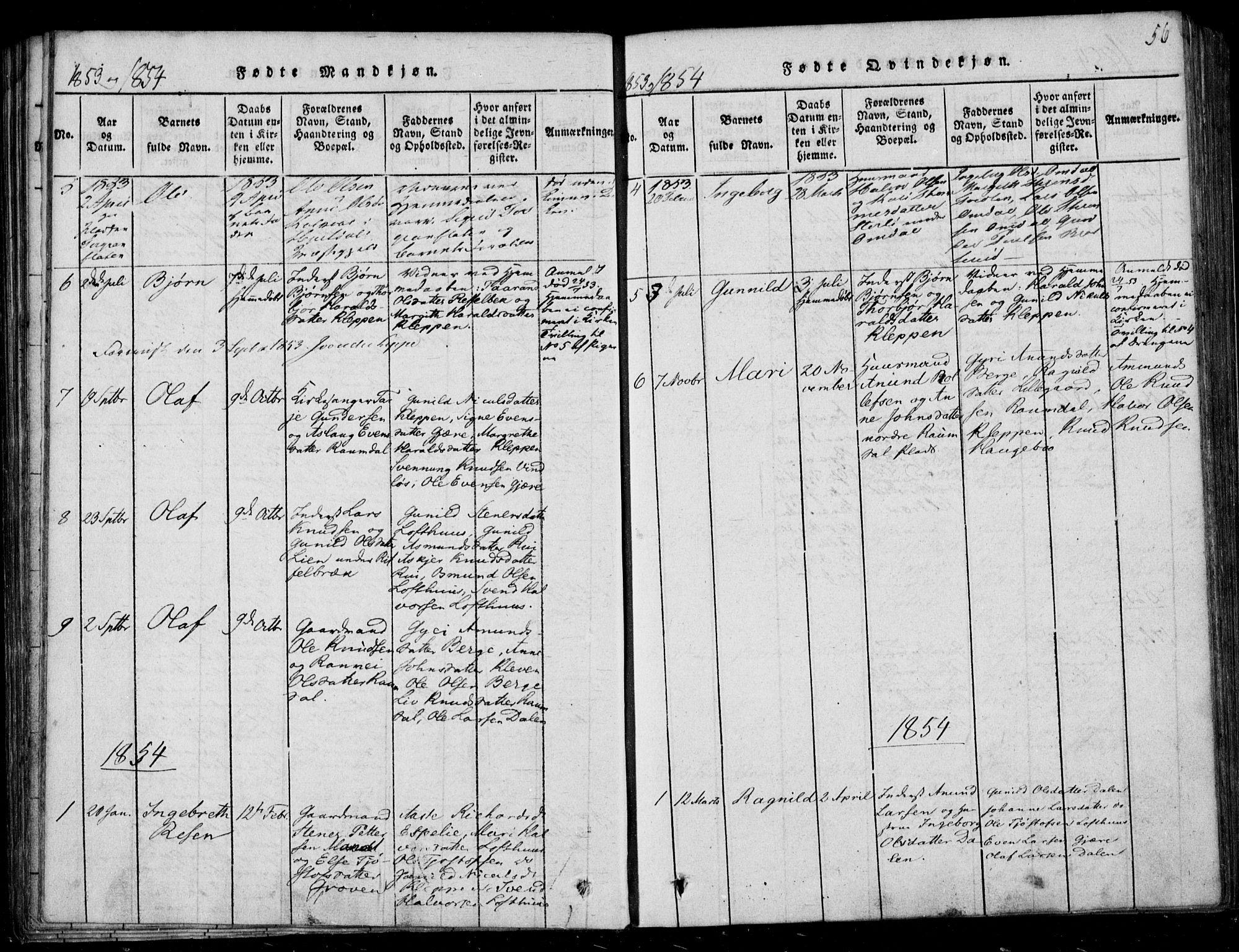 SAKO, Lårdal kirkebøker, F/Fb/L0001: Ministerialbok nr. II 1, 1815-1860, s. 56