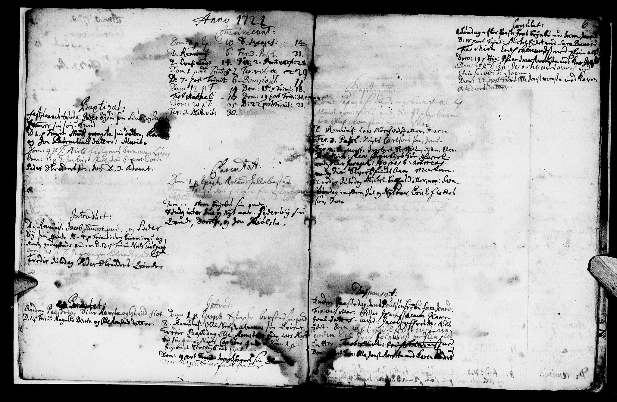 SAT, Ministerialprotokoller, klokkerbøker og fødselsregistre - Nord-Trøndelag, 765/L0560: Ministerialbok nr. 765A01, 1706-1748, s. 6