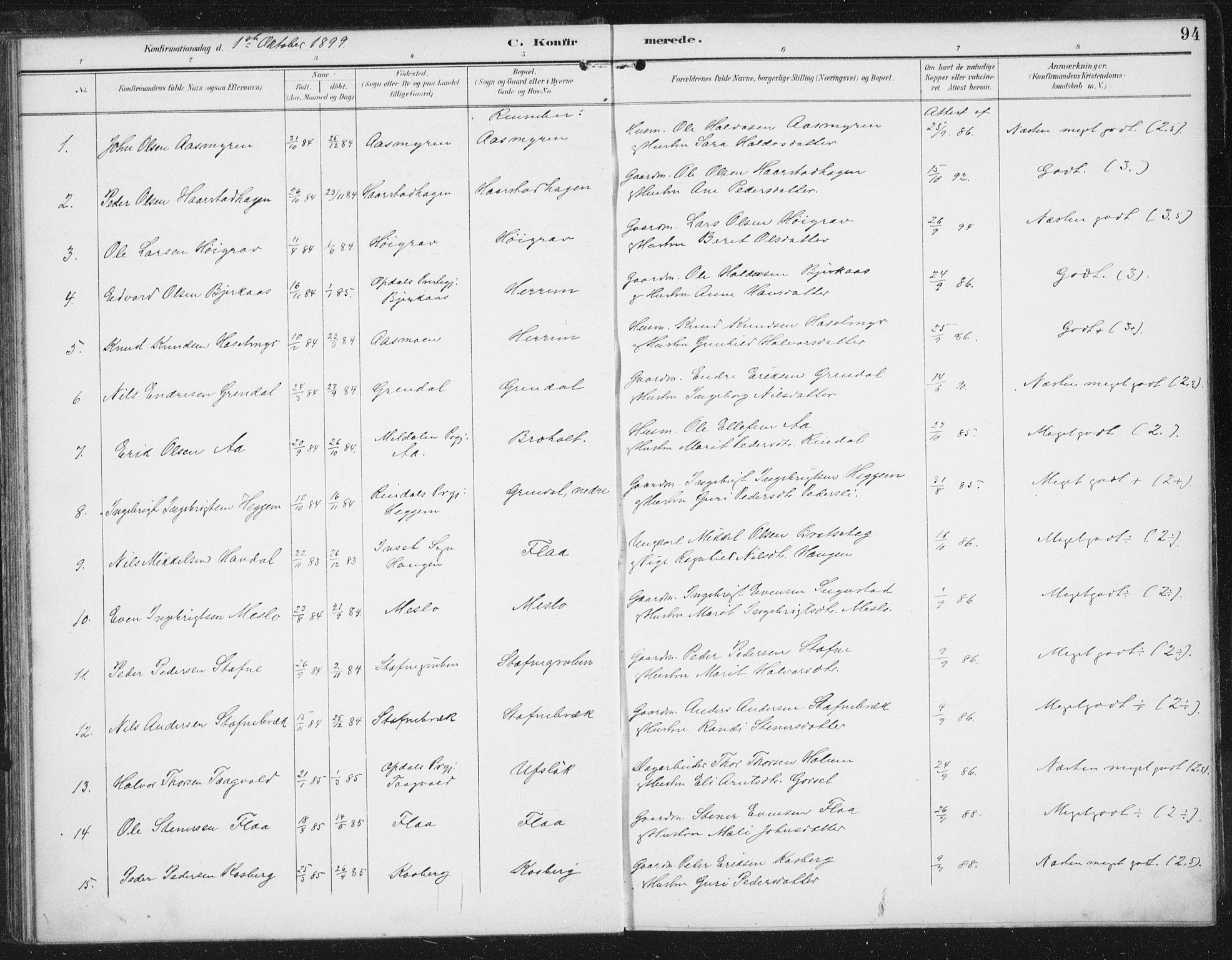 SAT, Ministerialprotokoller, klokkerbøker og fødselsregistre - Sør-Trøndelag, 674/L0872: Ministerialbok nr. 674A04, 1897-1907, s. 94