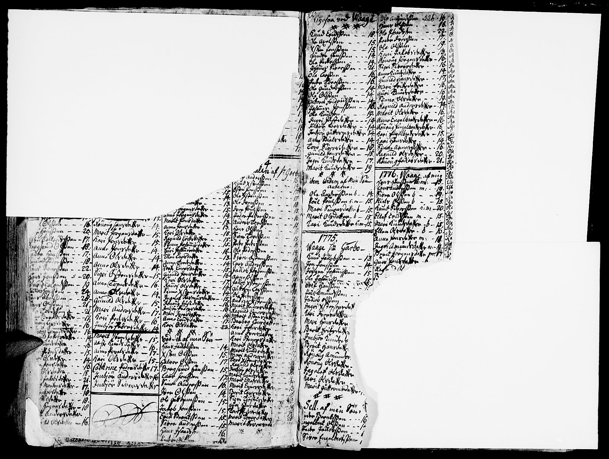 SAH, Vågå prestekontor, Ministerialbok nr. 1, 1739-1810, s. 228