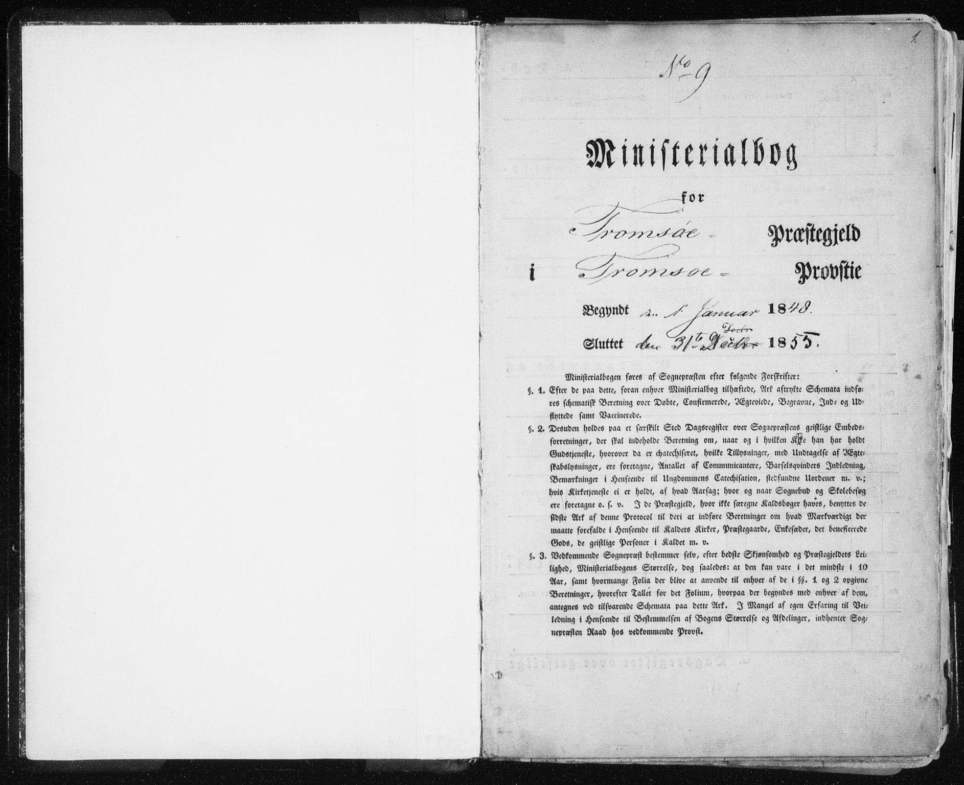 SATØ, Tromsø sokneprestkontor/stiftsprosti/domprosti, G/Ga/L0010kirke: Ministerialbok nr. 10, 1848-1855, s. 1