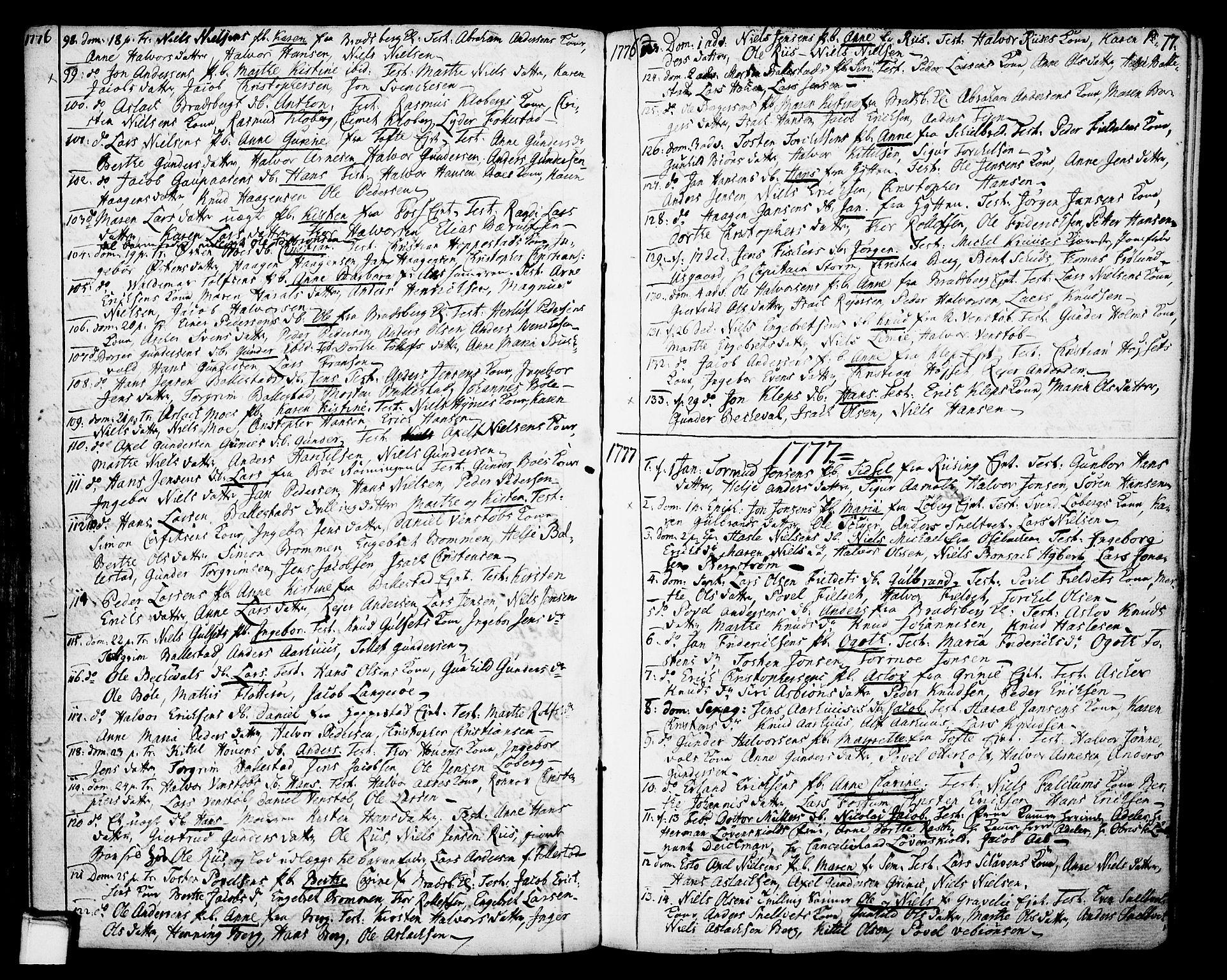 SAKO, Gjerpen kirkebøker, F/Fa/L0002: Ministerialbok nr. 2, 1747-1795, s. 77